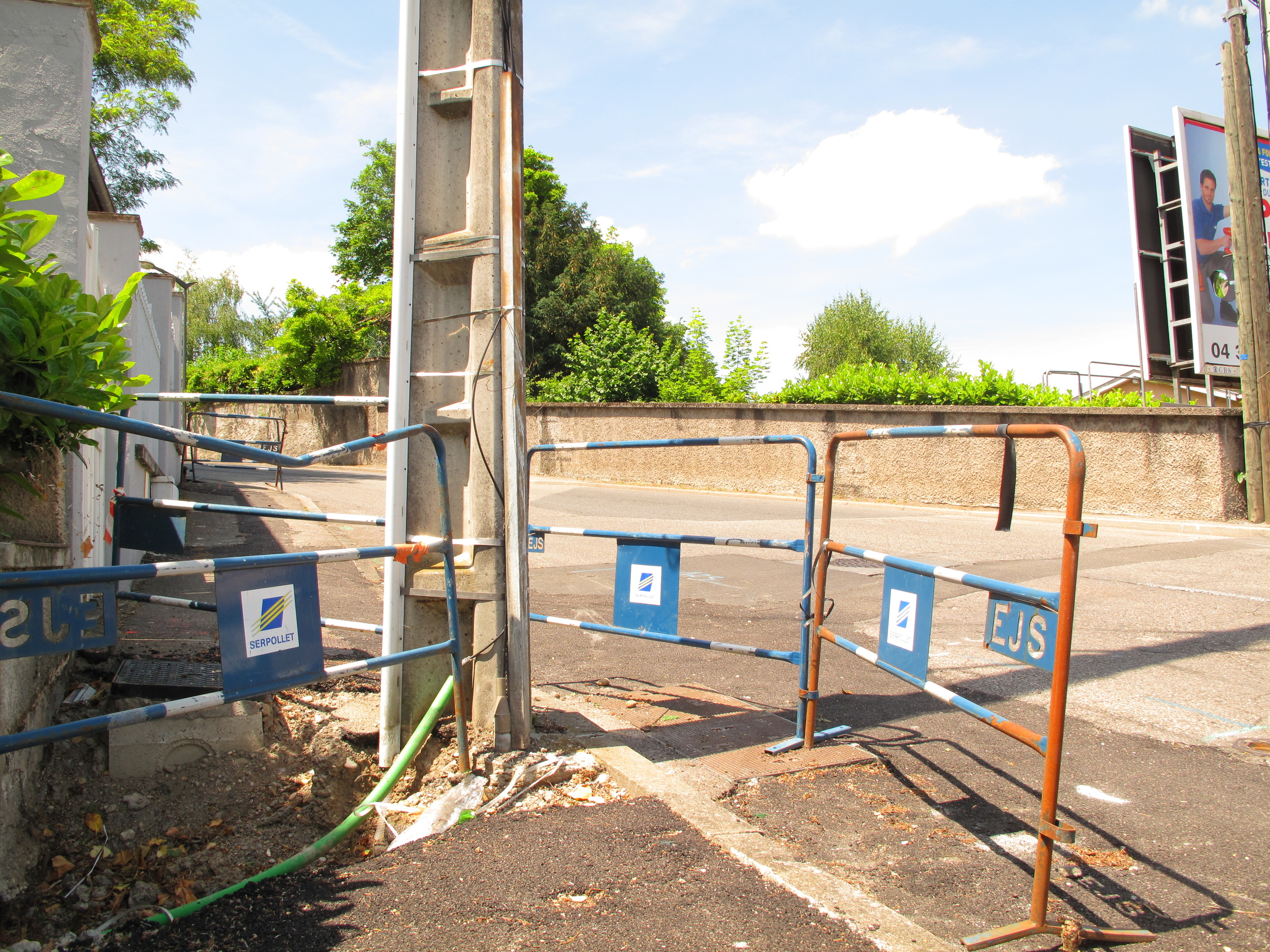 The permanent construction zone,Oullins.