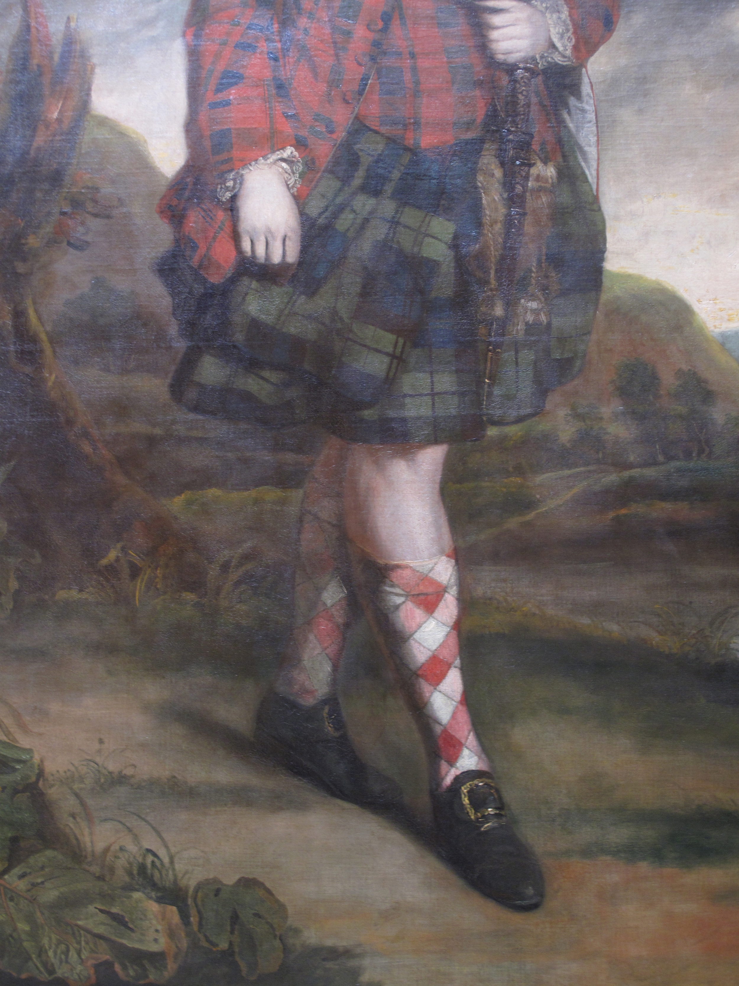 Painting of a Scotsman in a kilt, in the National Gallery, Edinburgh.
