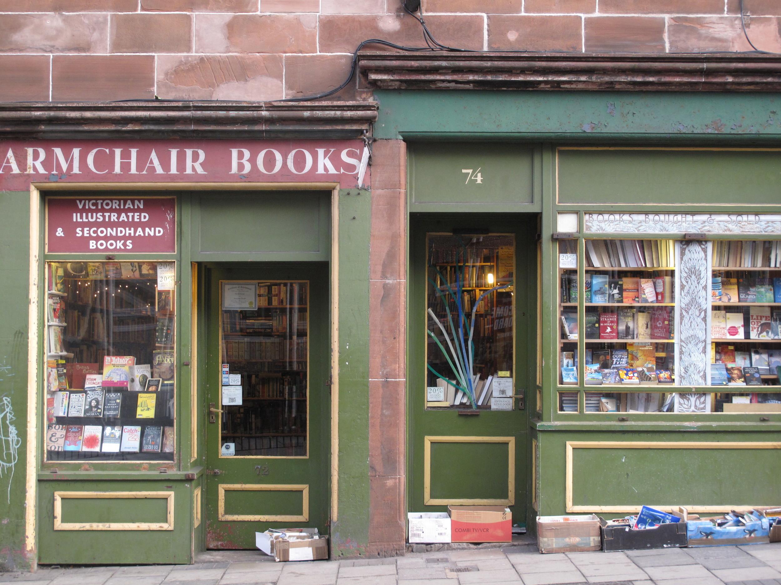 Armchair Books - bookshop in Edinburgh.