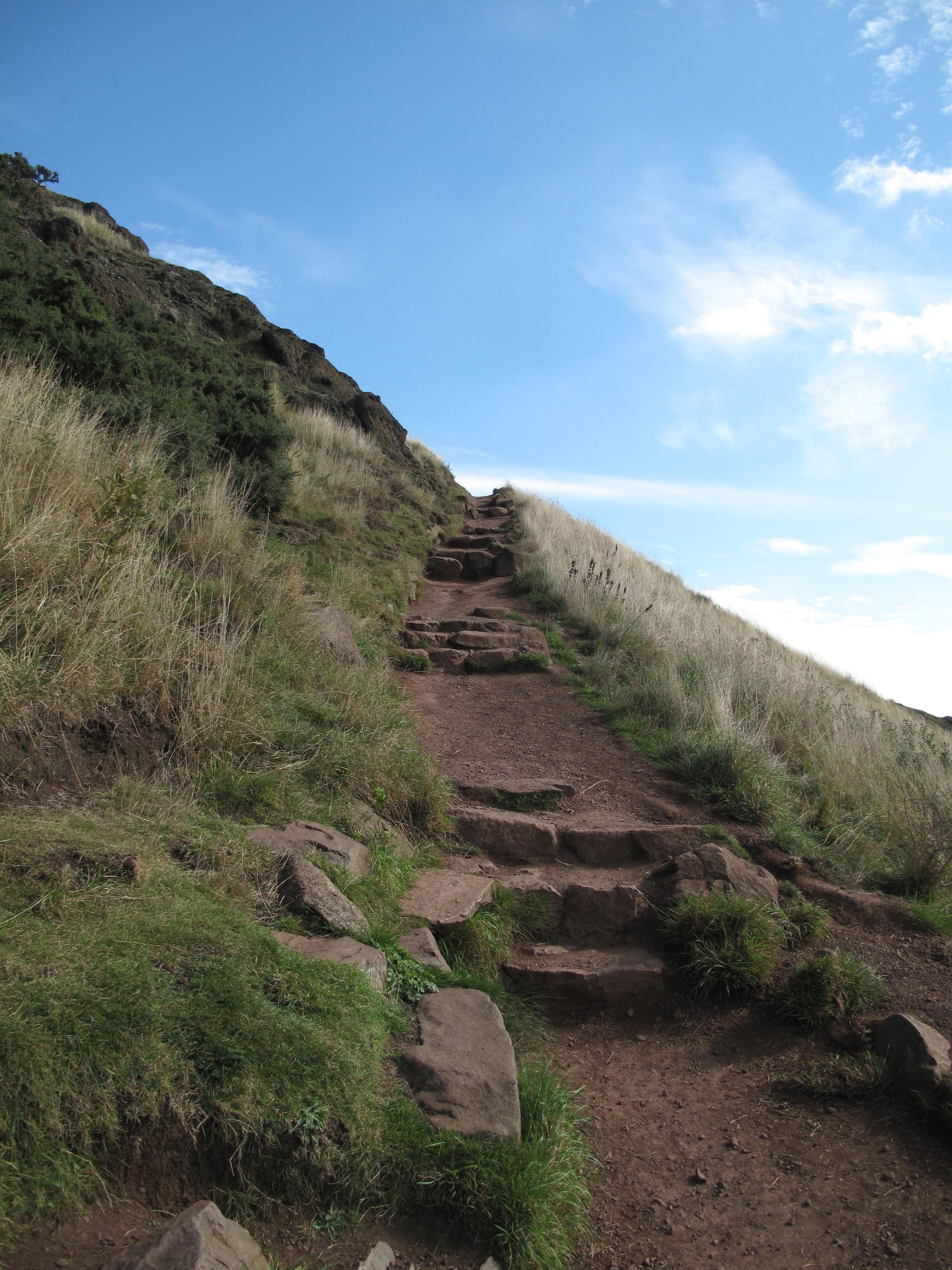 Path leading up to Arthur's Seat through Holyrood Park.