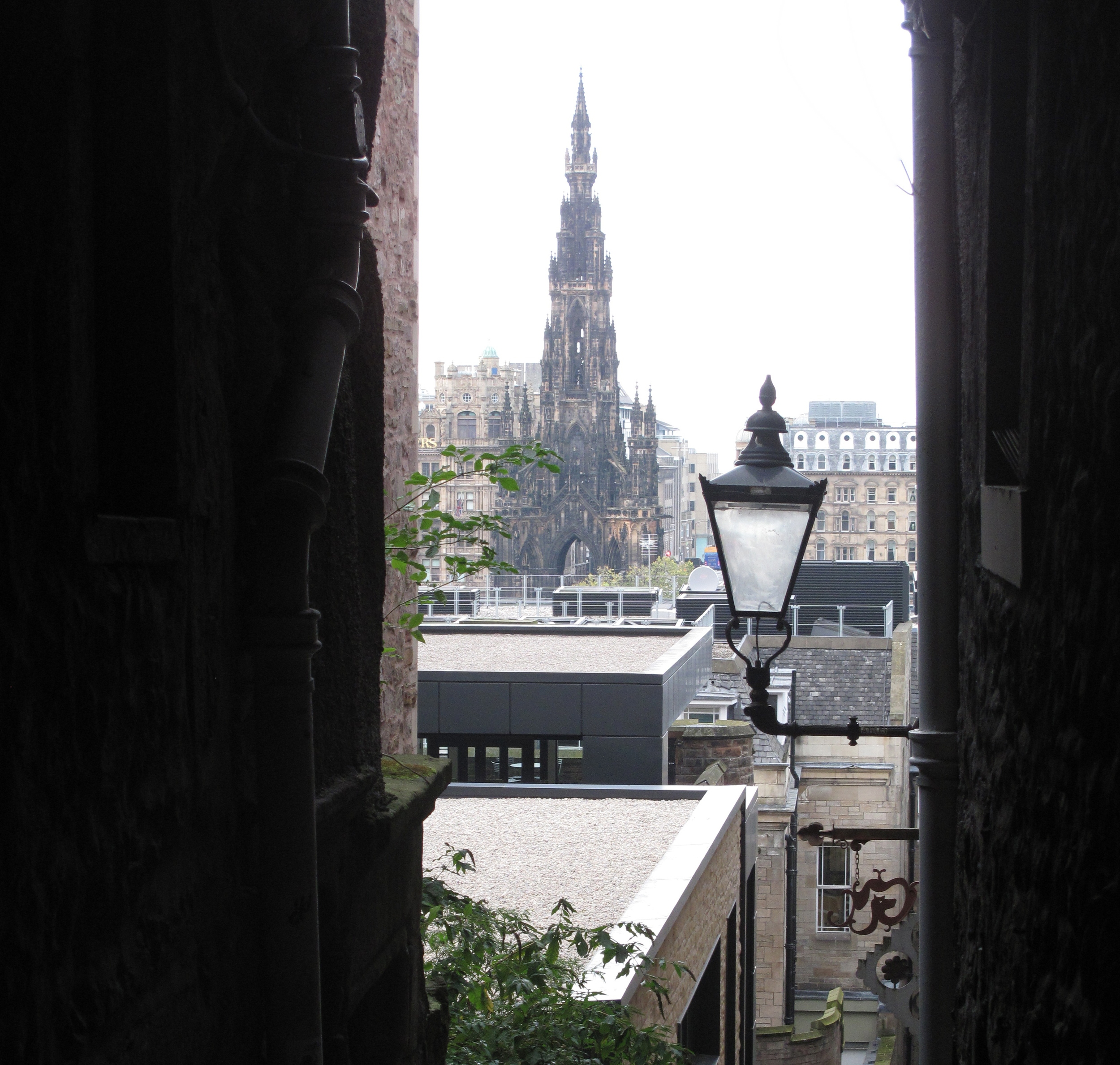 A secret passage or 'wynd' in the Old Town of Edinburgh.