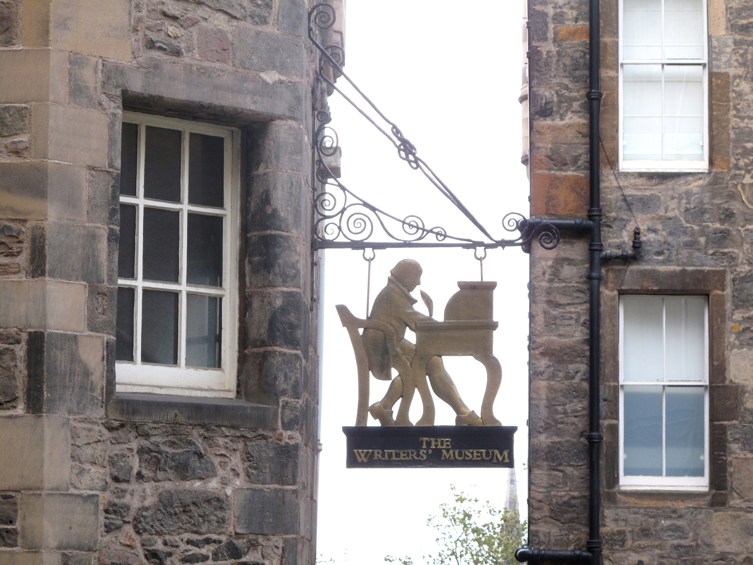 Writer's Museum sign in the Lady Stair's Close, Edinburgh.