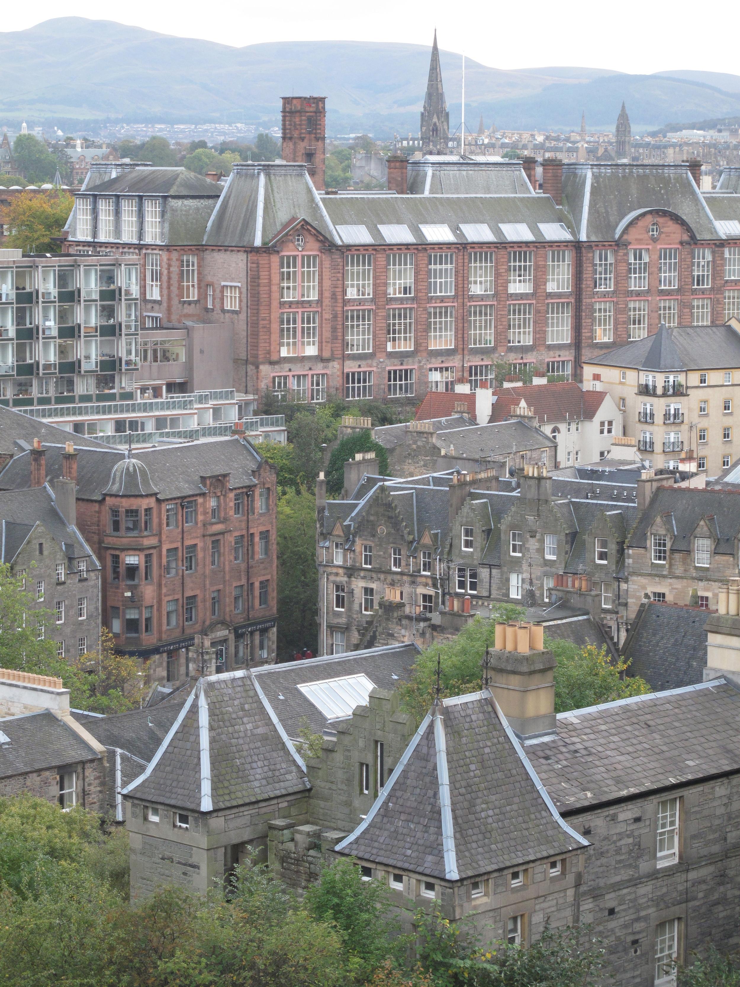 View of Grassmarket from Castle Wynd, Edinburgh.