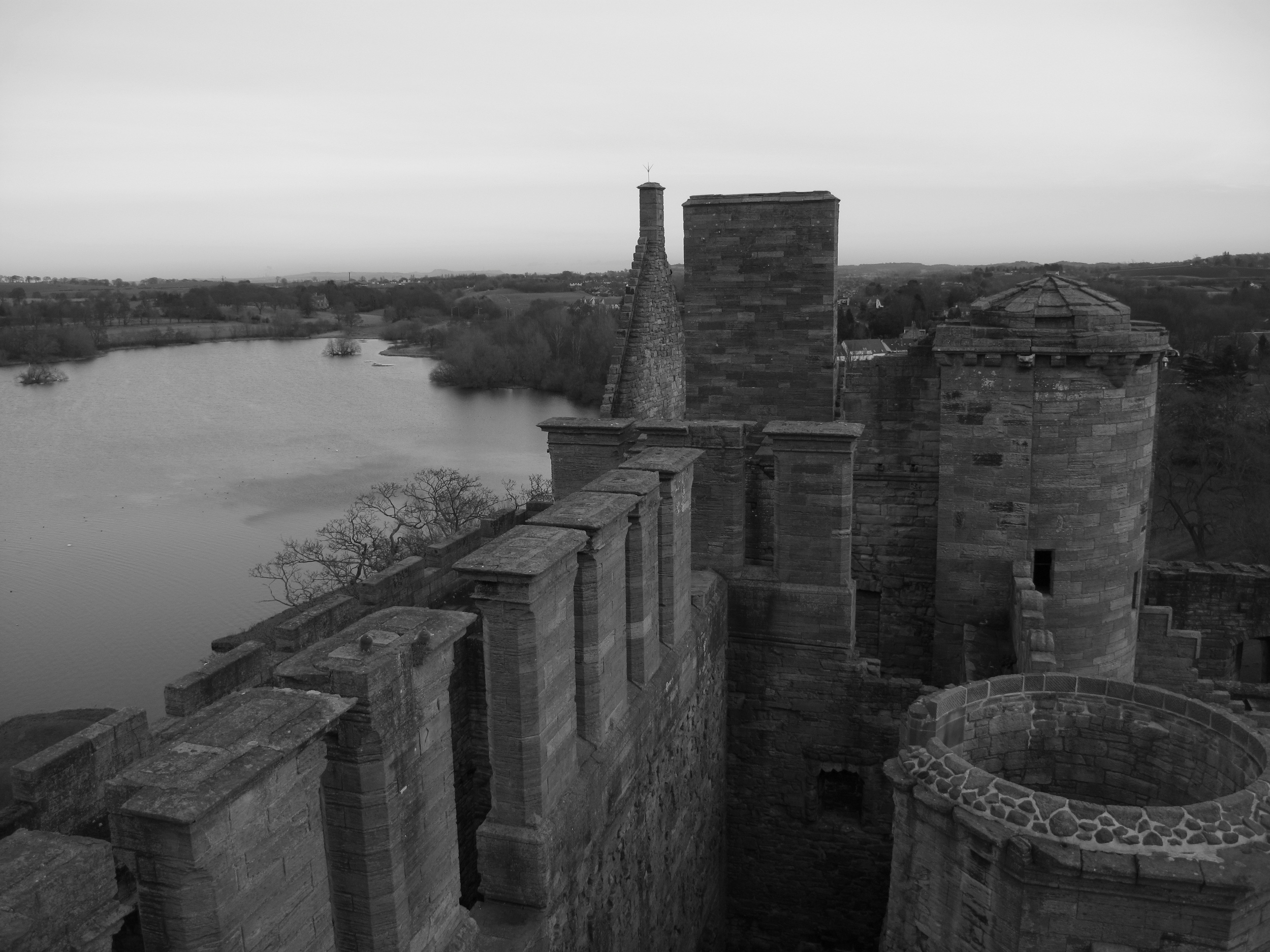 Linlithgow Palace roof.