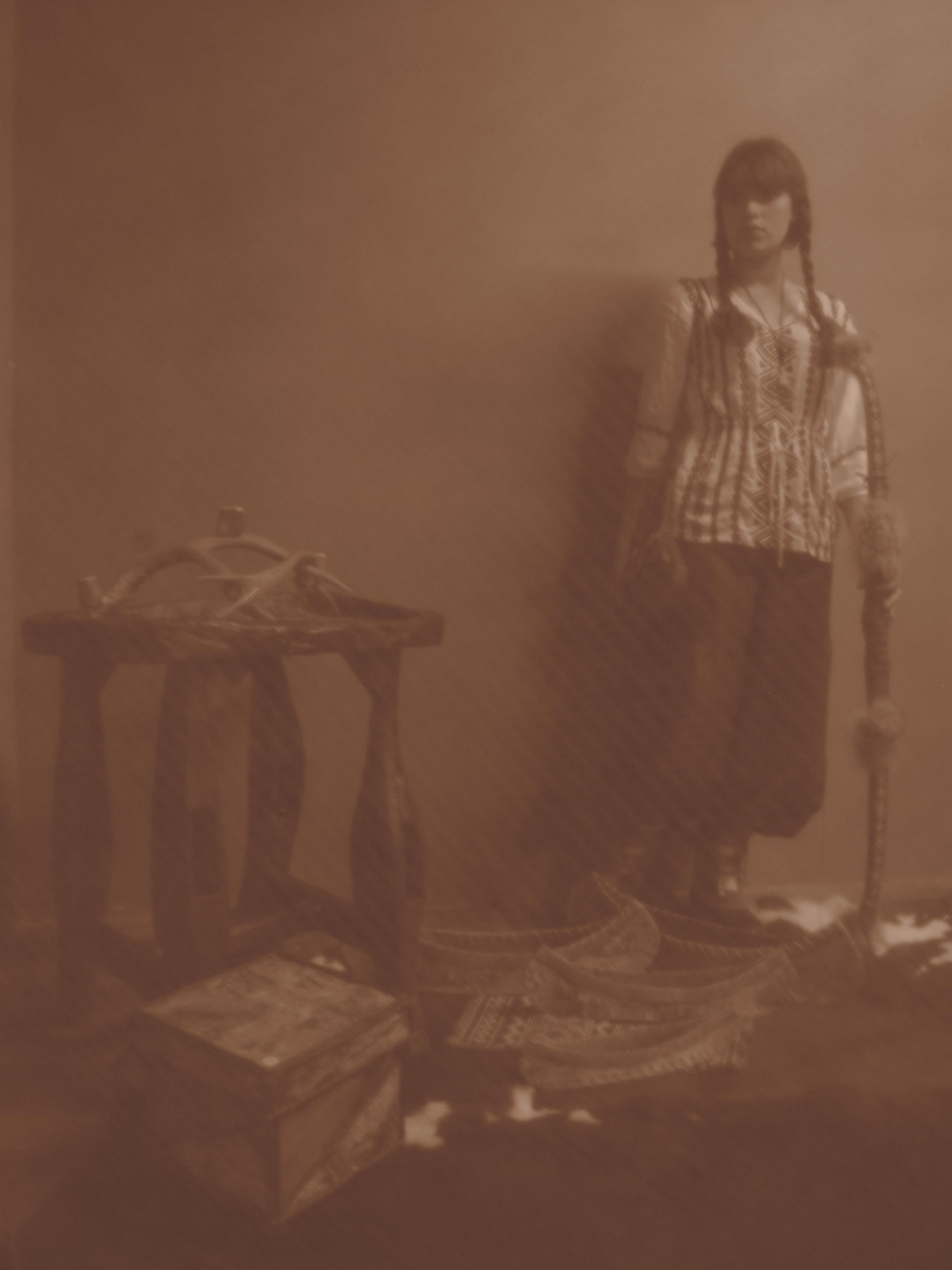 Historical style photoshoot - Native American girl.