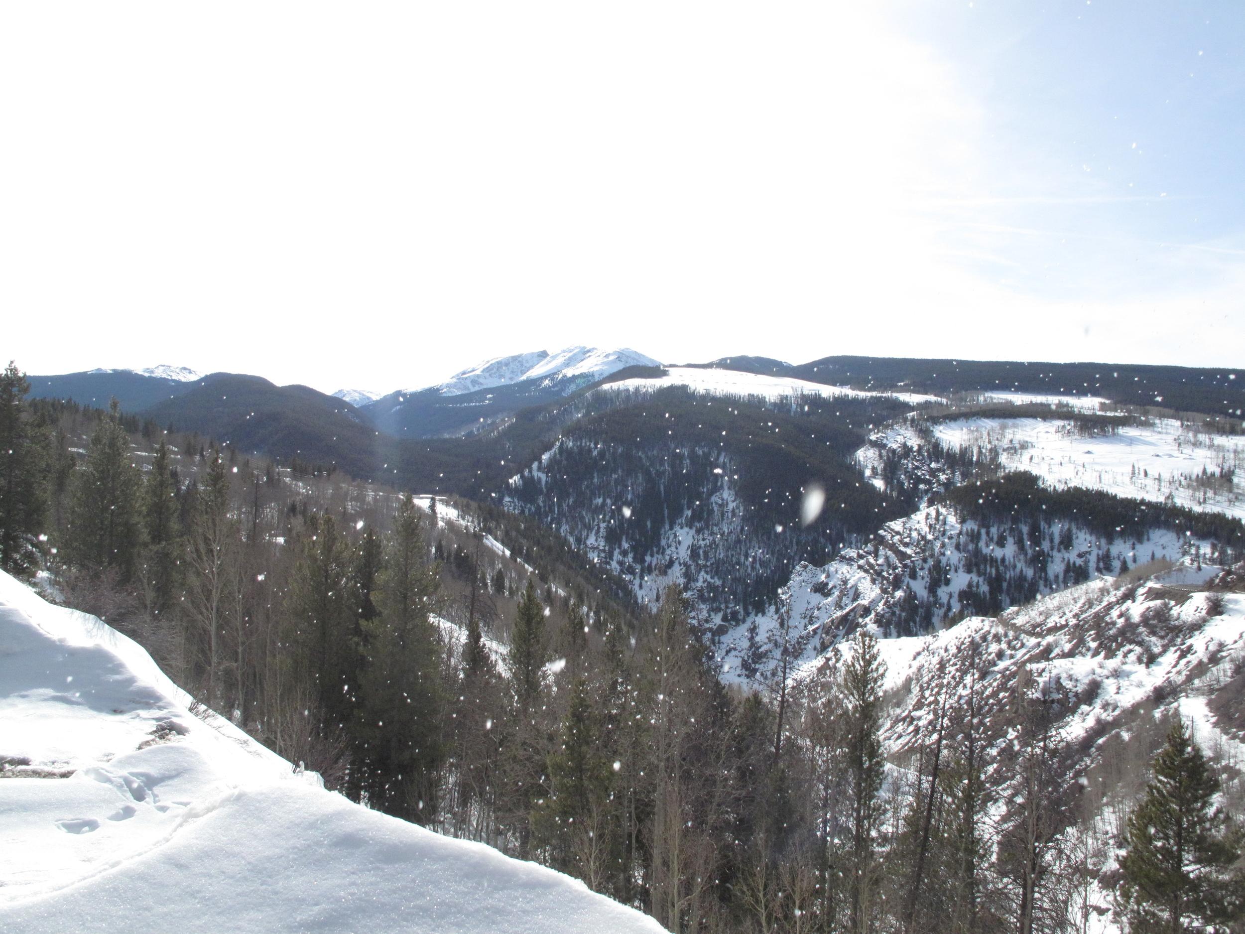 Snow up at Gilman area, Colorado.