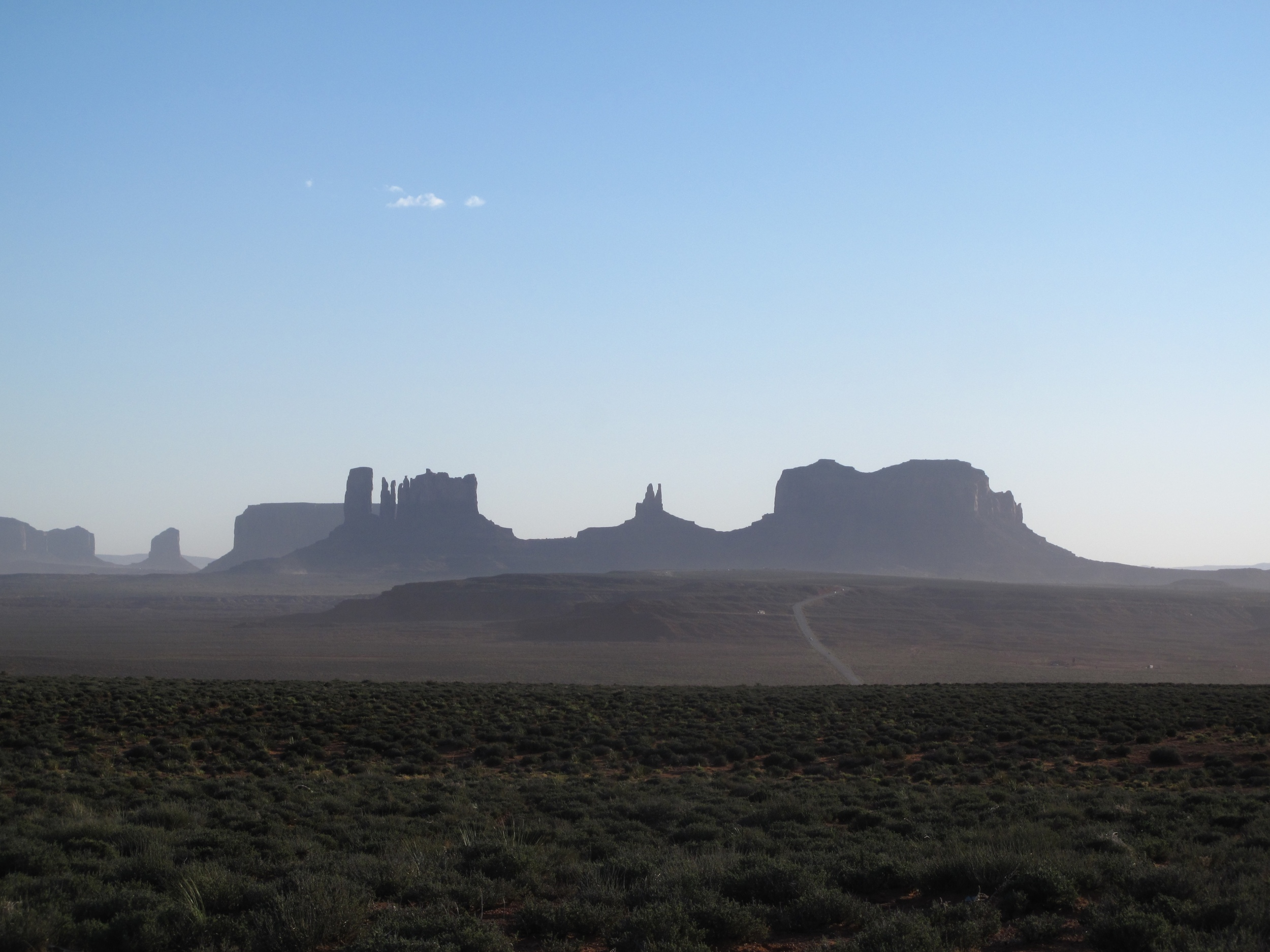 The middle of nowhere - rock formations in Utah desert.