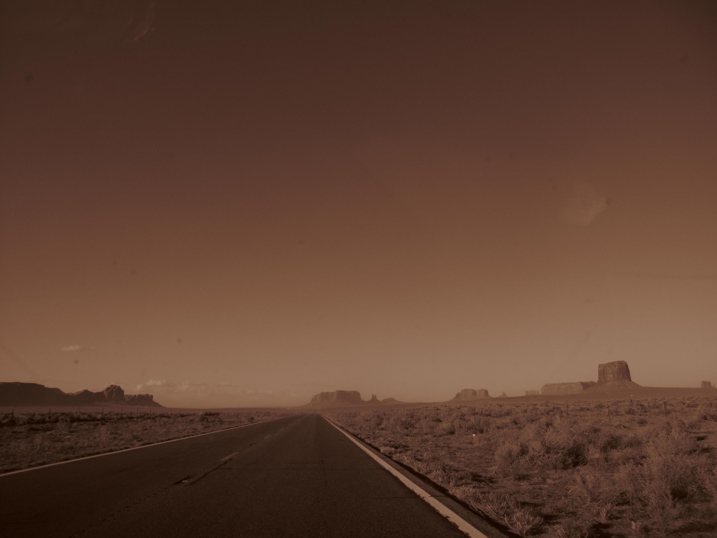 Driving the the desert in Utah.