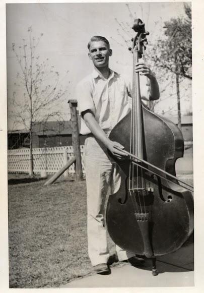 Great grandpa William Huestis playing the Cello.