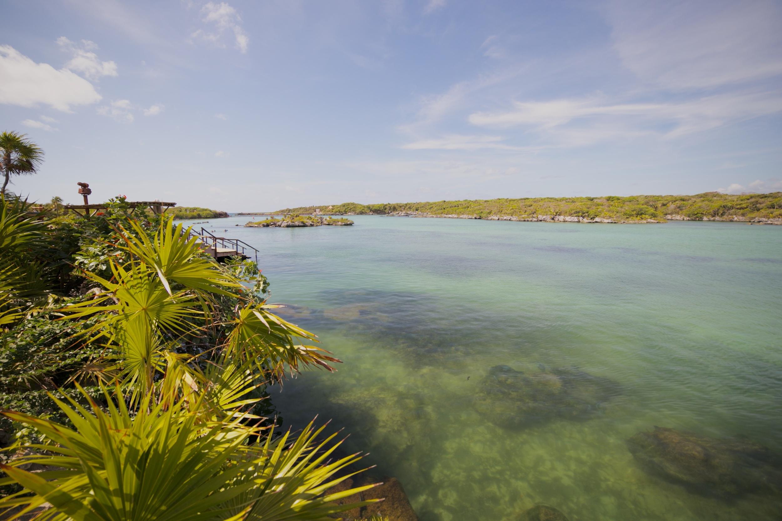 Xel Ha Lagoon in Cancun, Mexico.