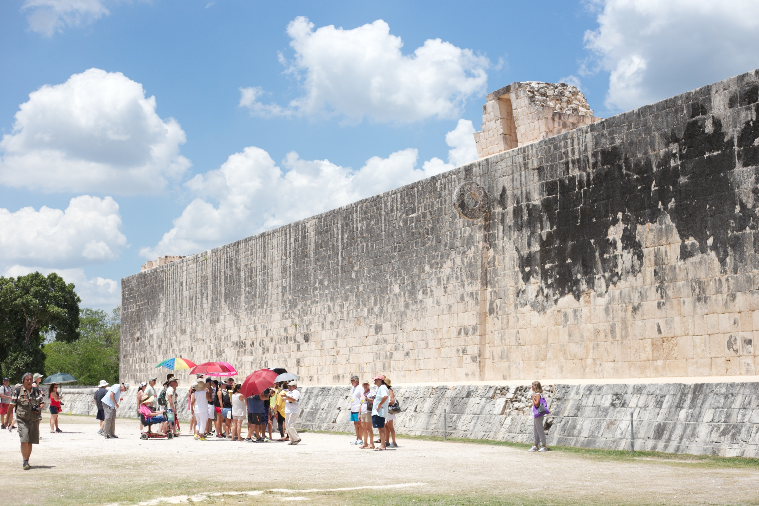 The Great Ball Court at Chichen Itza where the Mayans would play ball.
