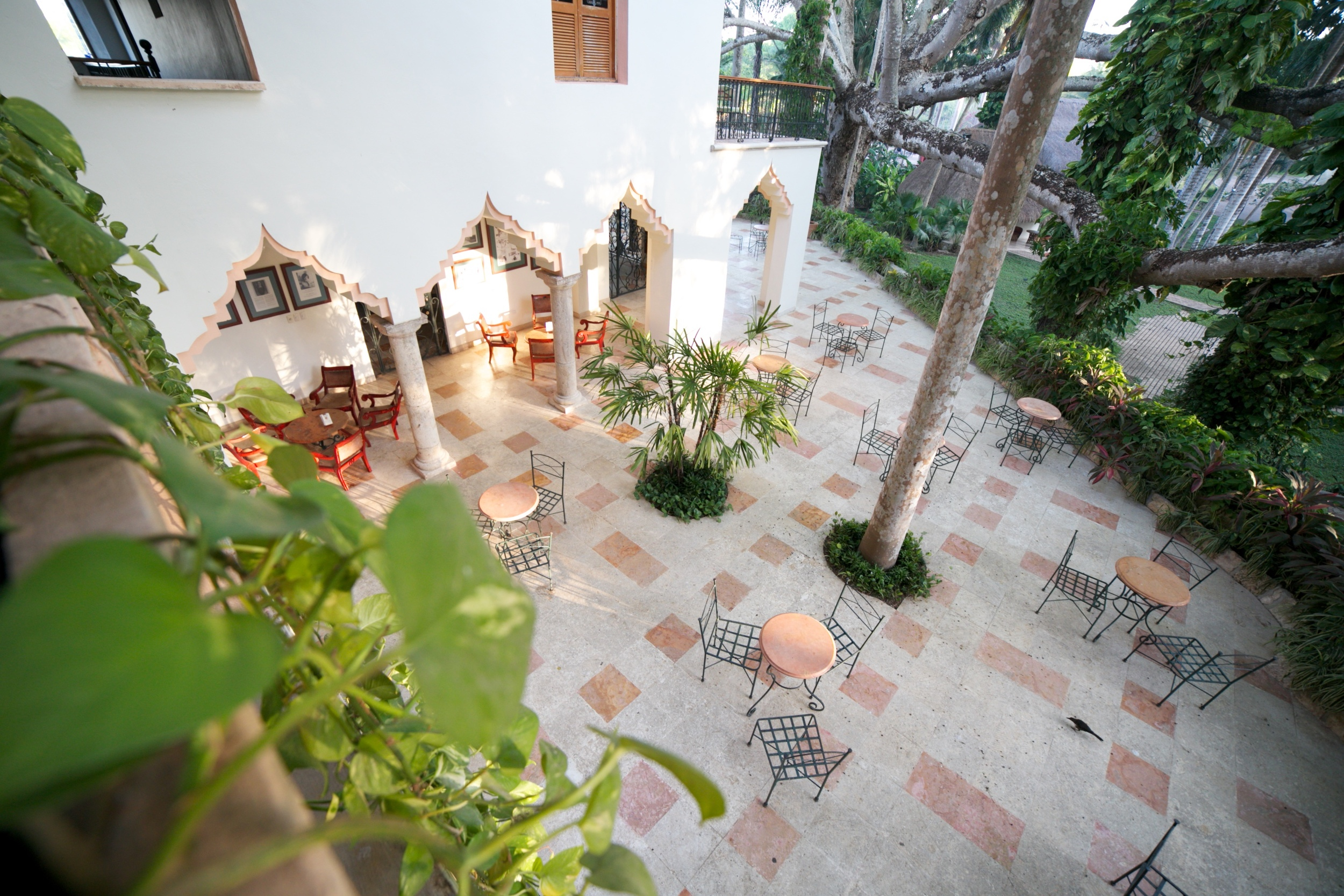 A beautiful old world Mexican hotel in the jungle -The Lodge at Chichen Itza.