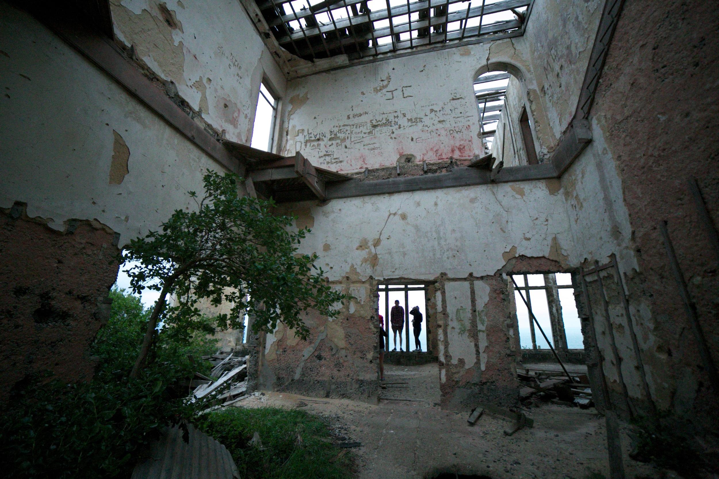 Inside the abandoned Cargill's Castle, Dunedin.