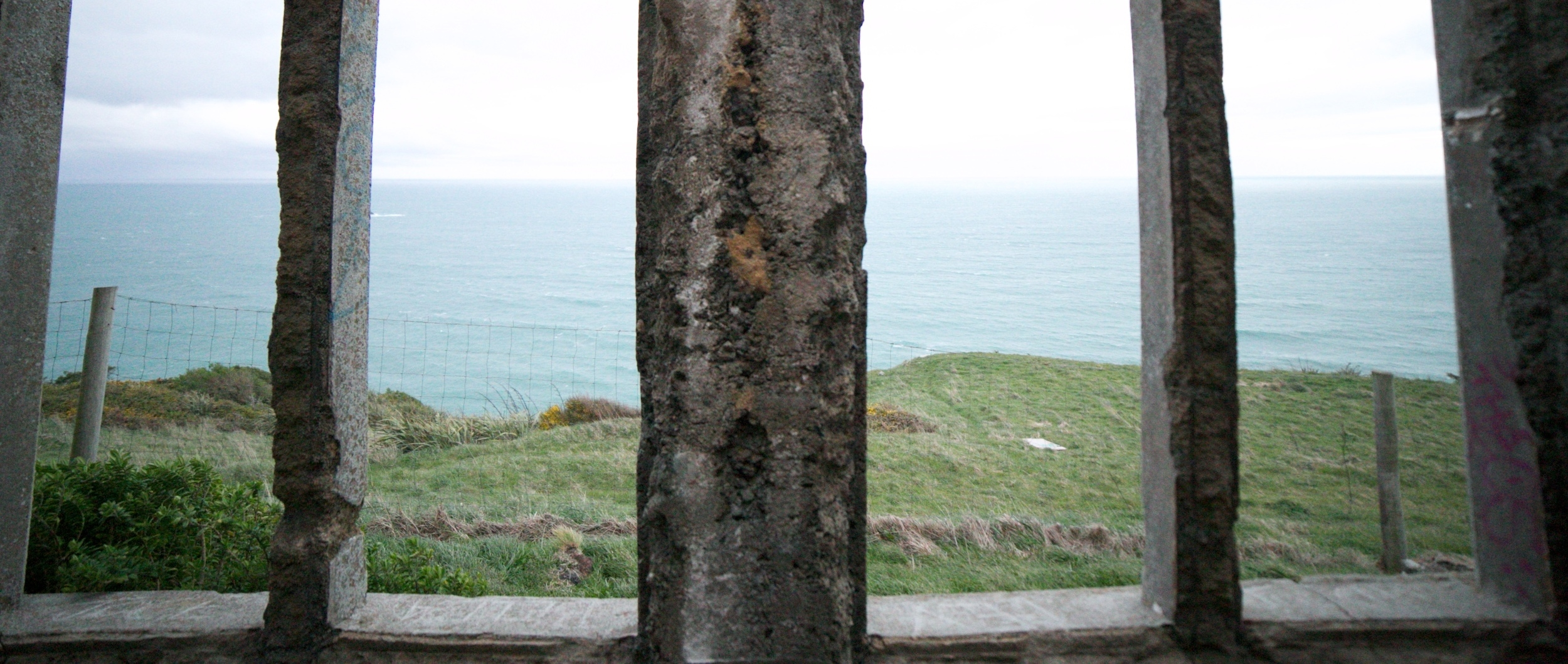 The window on the ocean, Cargill's Castle on the Dunedin coast.