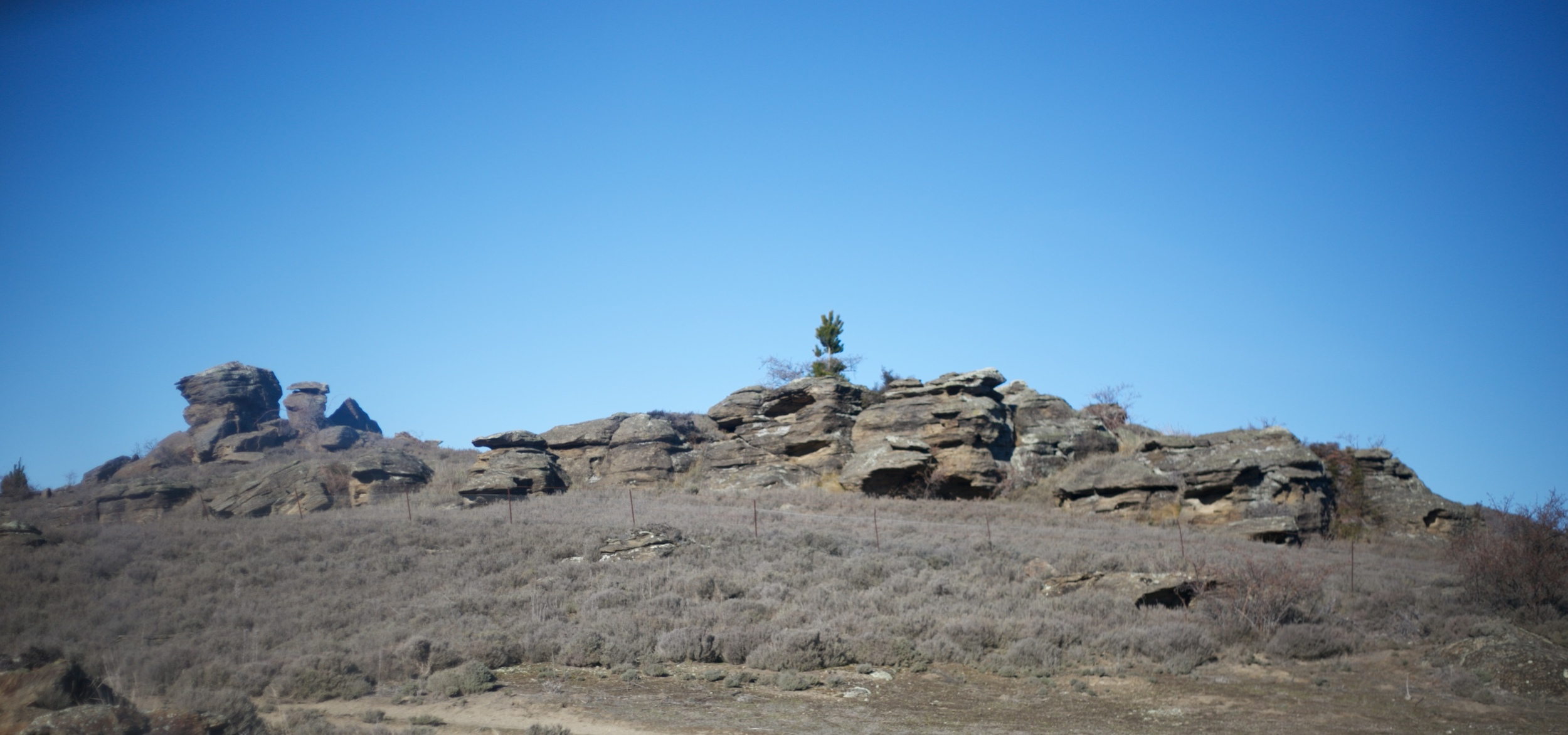 Rocky landscapes near Alexandra - like from Lord of the Rings.