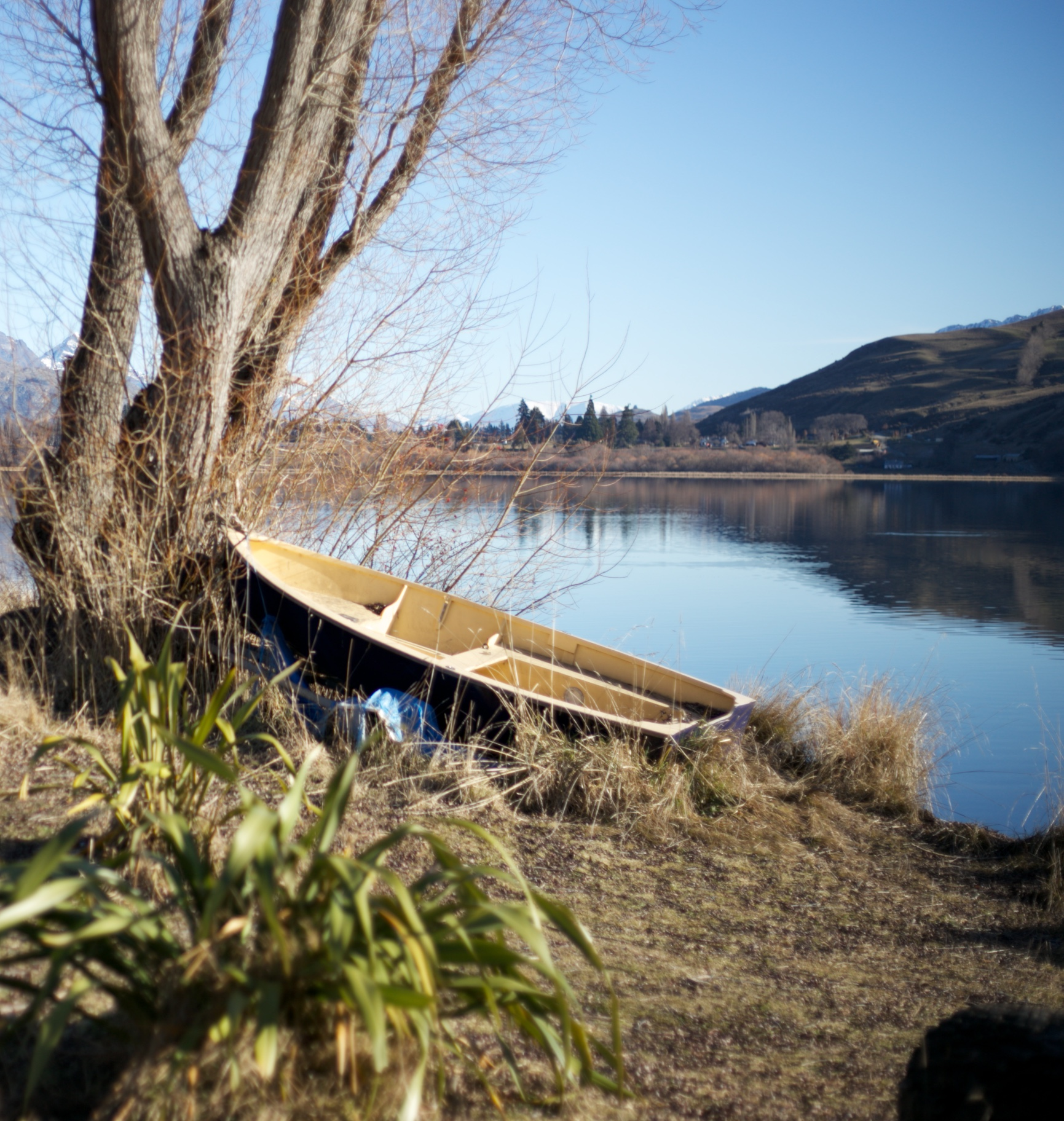 A boat by a lake - NZ the real middle earth.