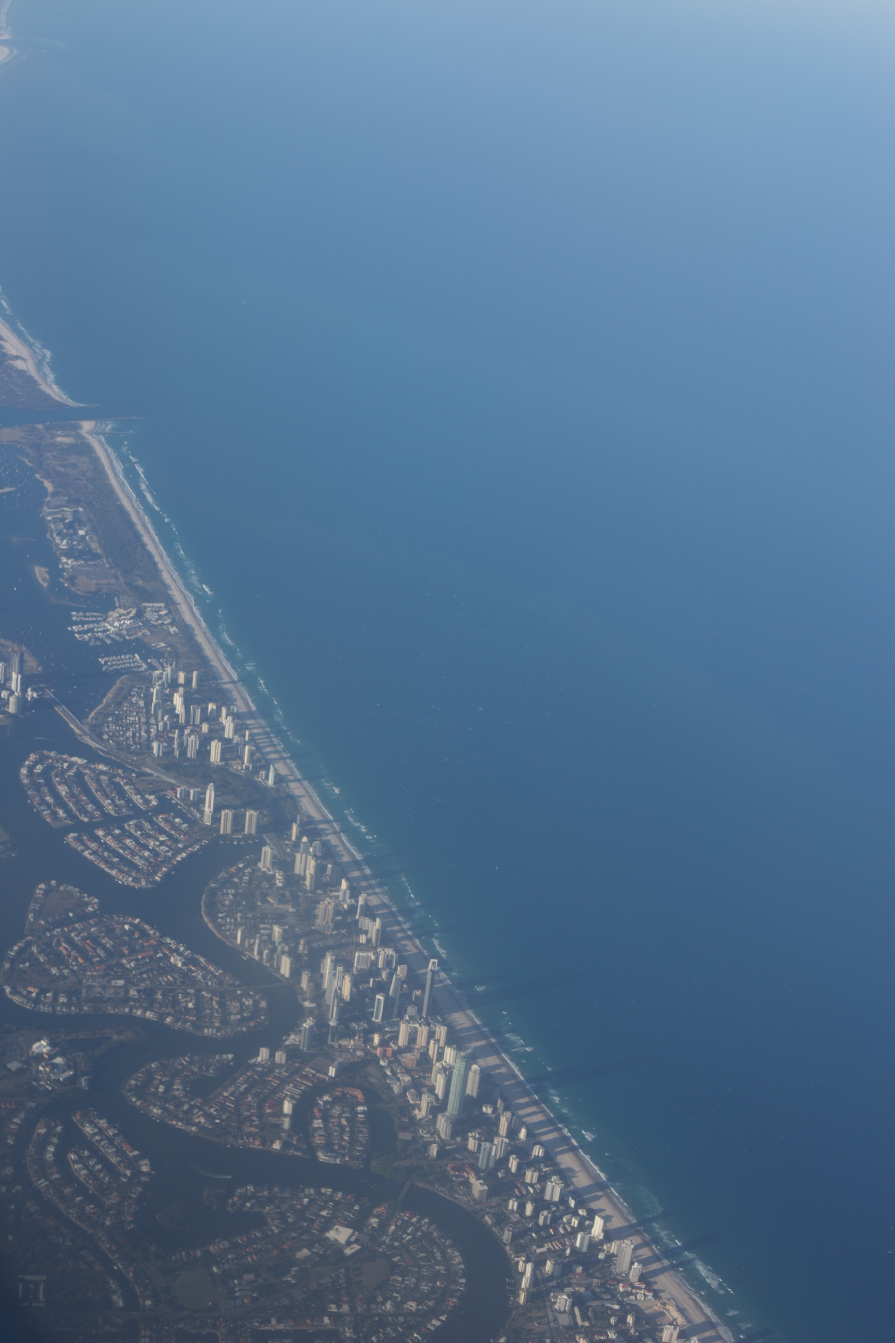 The Gold Coast as seen from a plane.