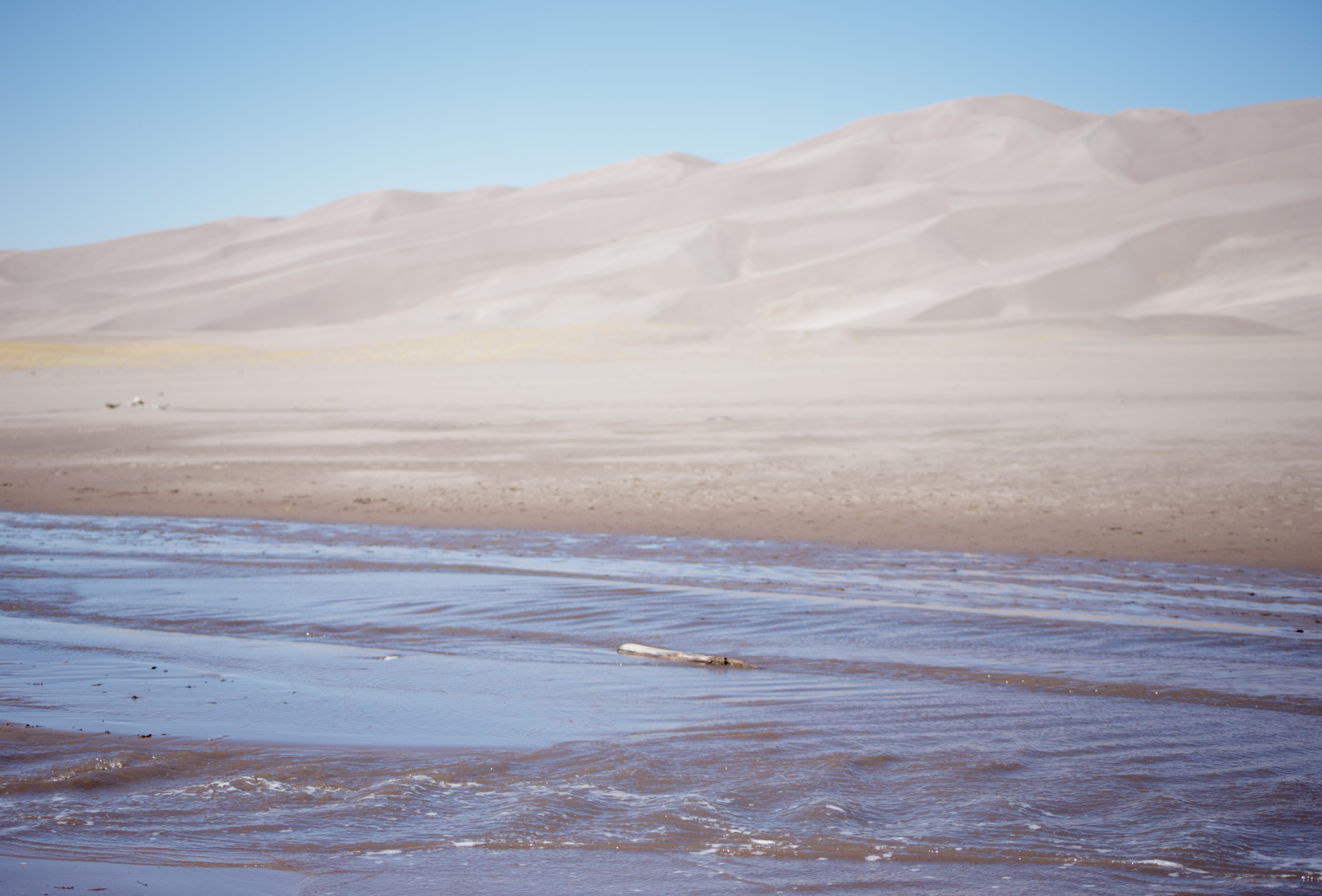 Medano Creek only shows up in spring at the Great Sand Dunes park.