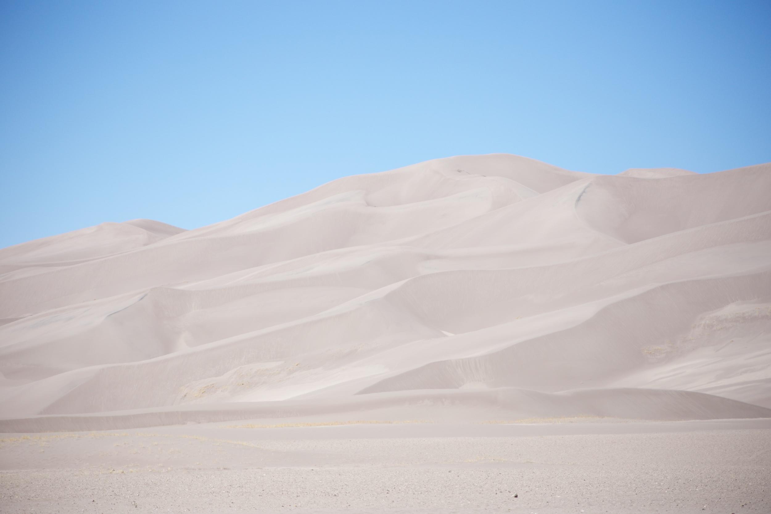 Beautiful sand dunes in Colorado.