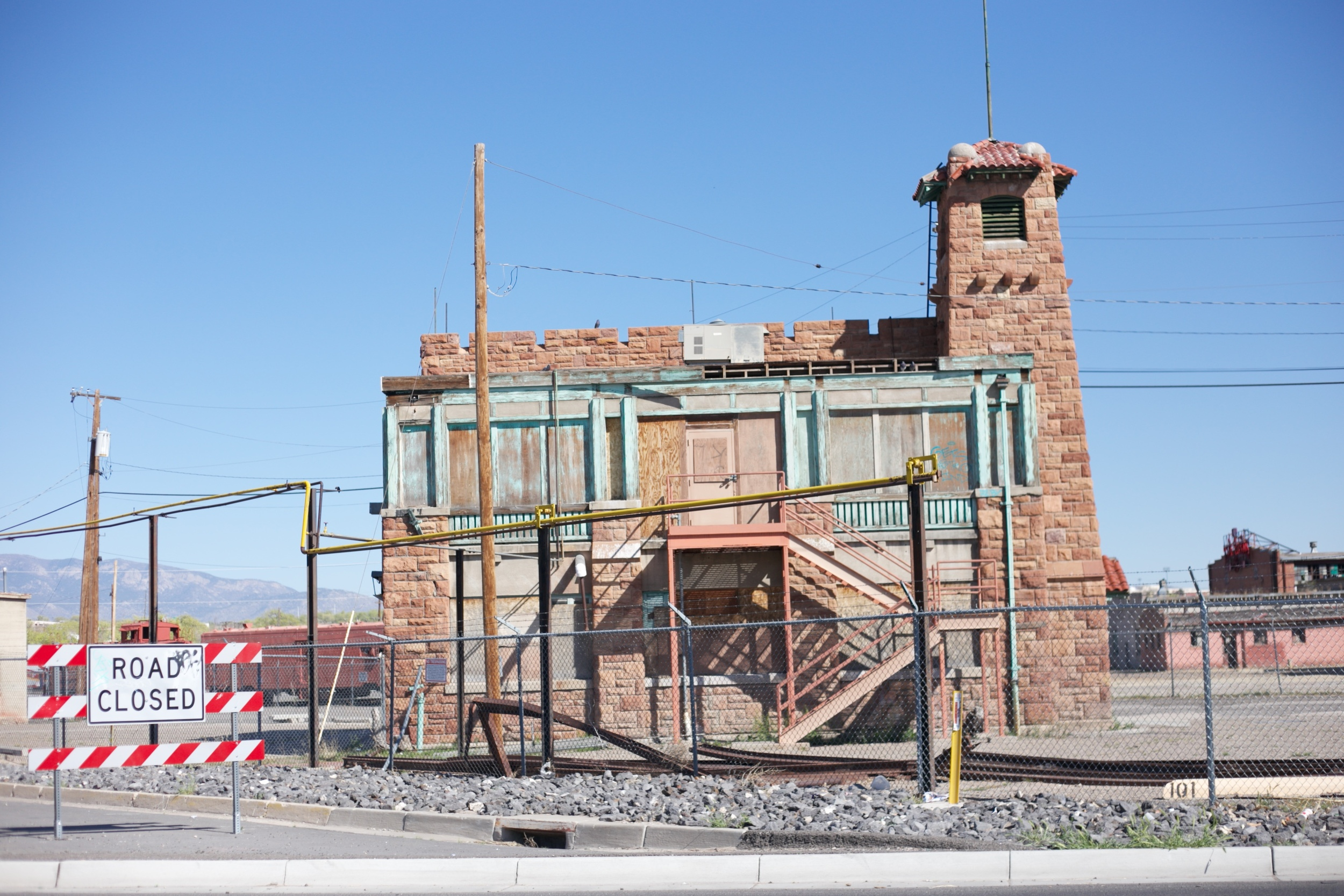 An abandoned building - part of the old Rail Yards.