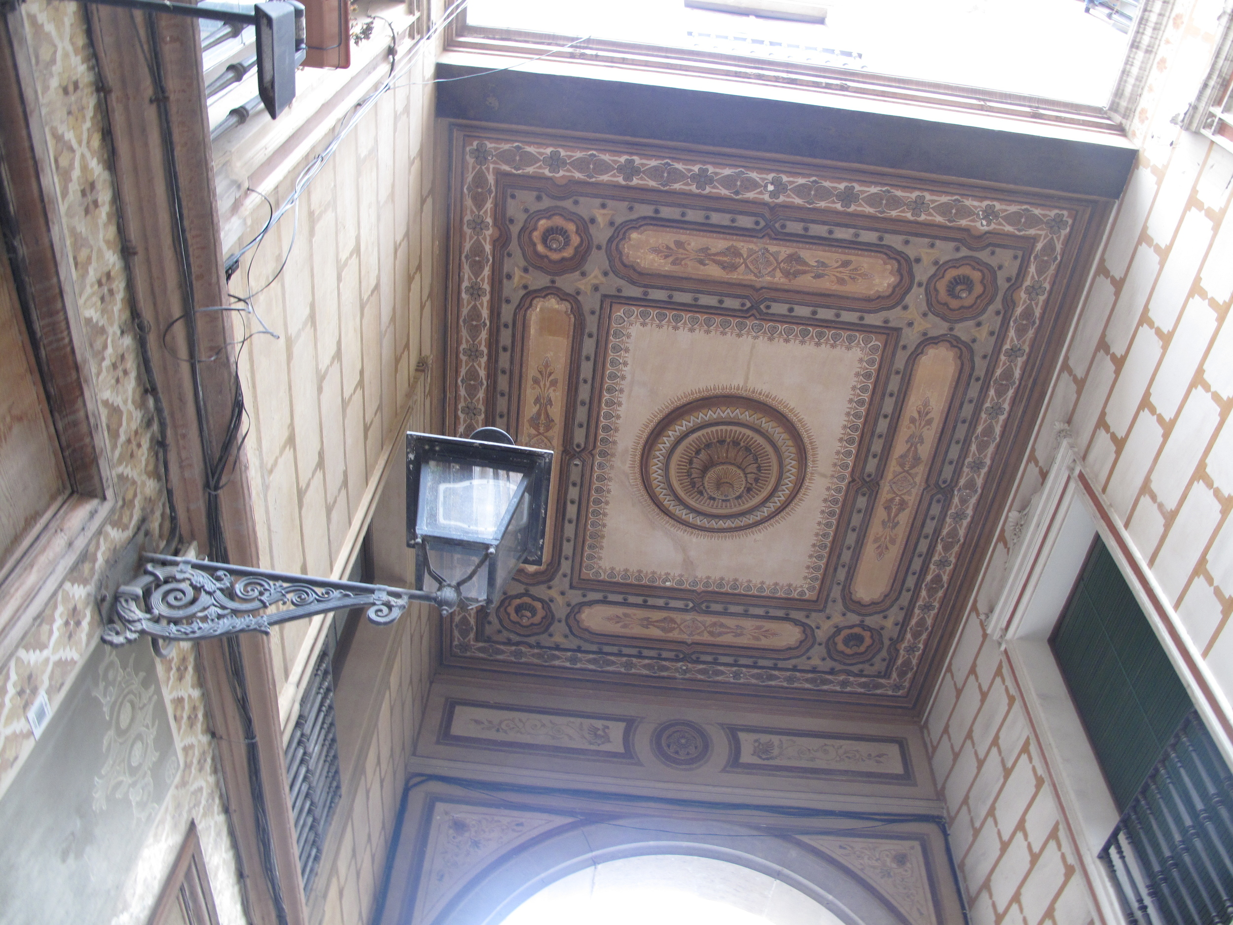Painted ceiling in Barcelona - Renaissance architecture.