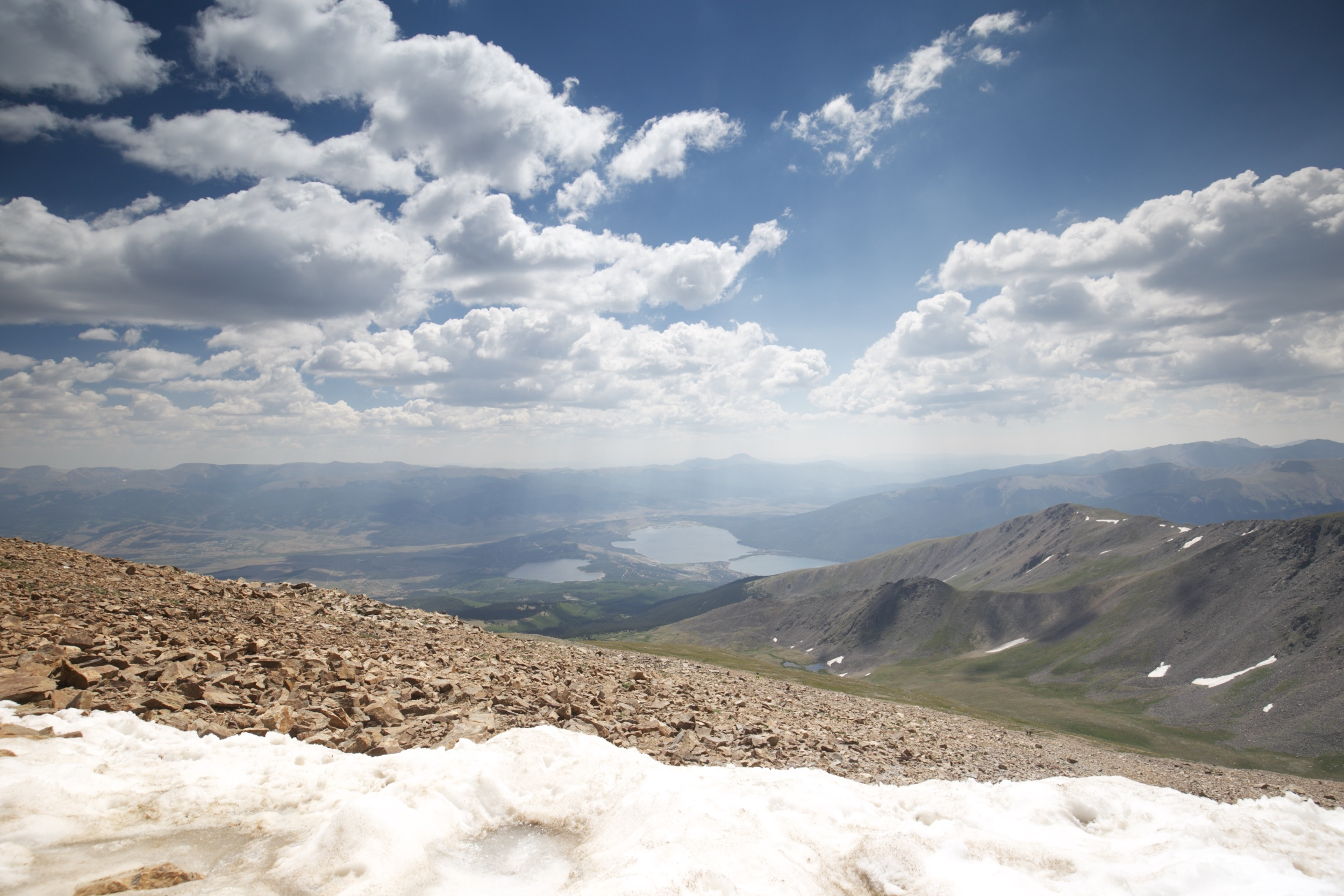 The view from the top of Mount Elbert, Colorado.