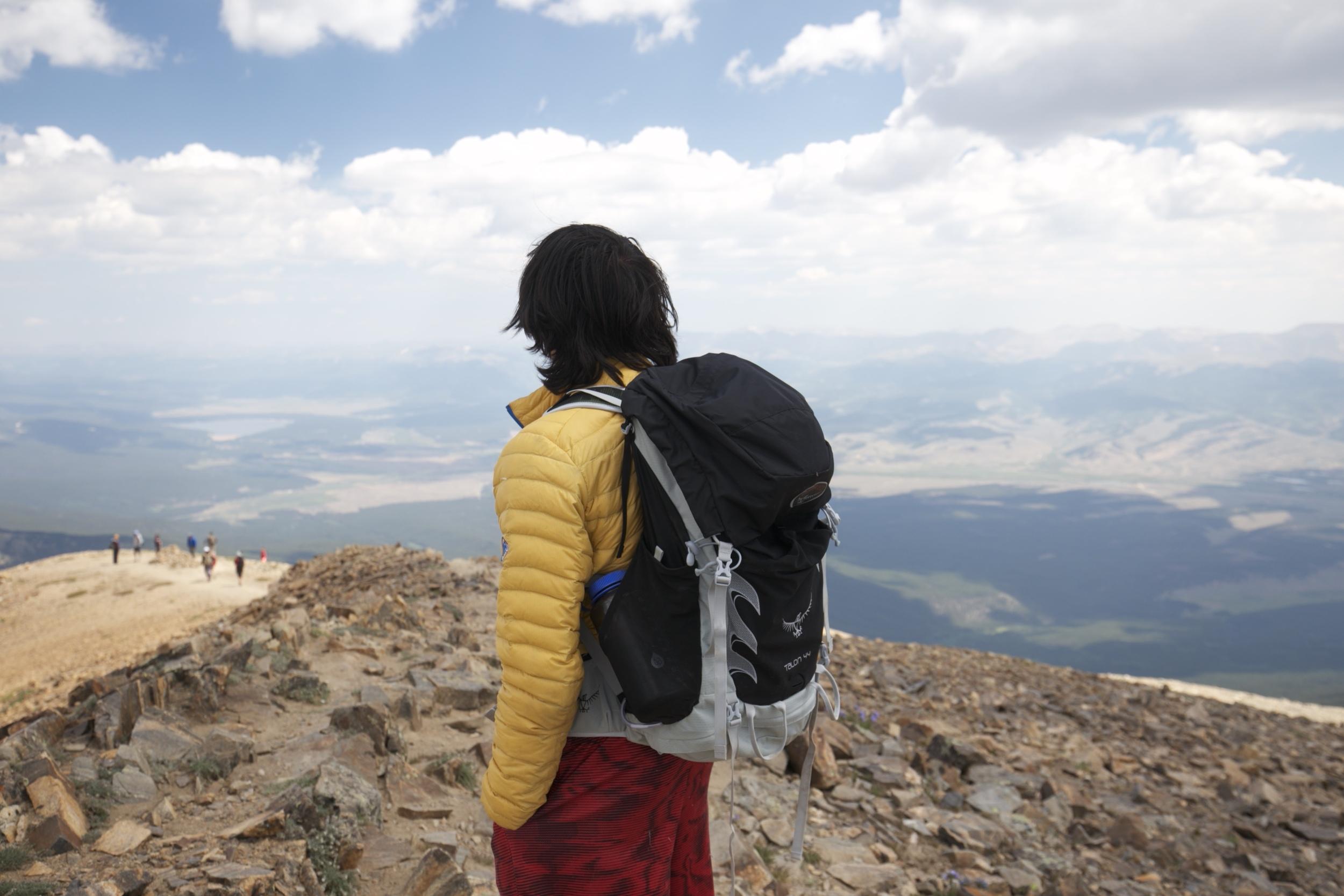 Oliver on Mount Elbert.