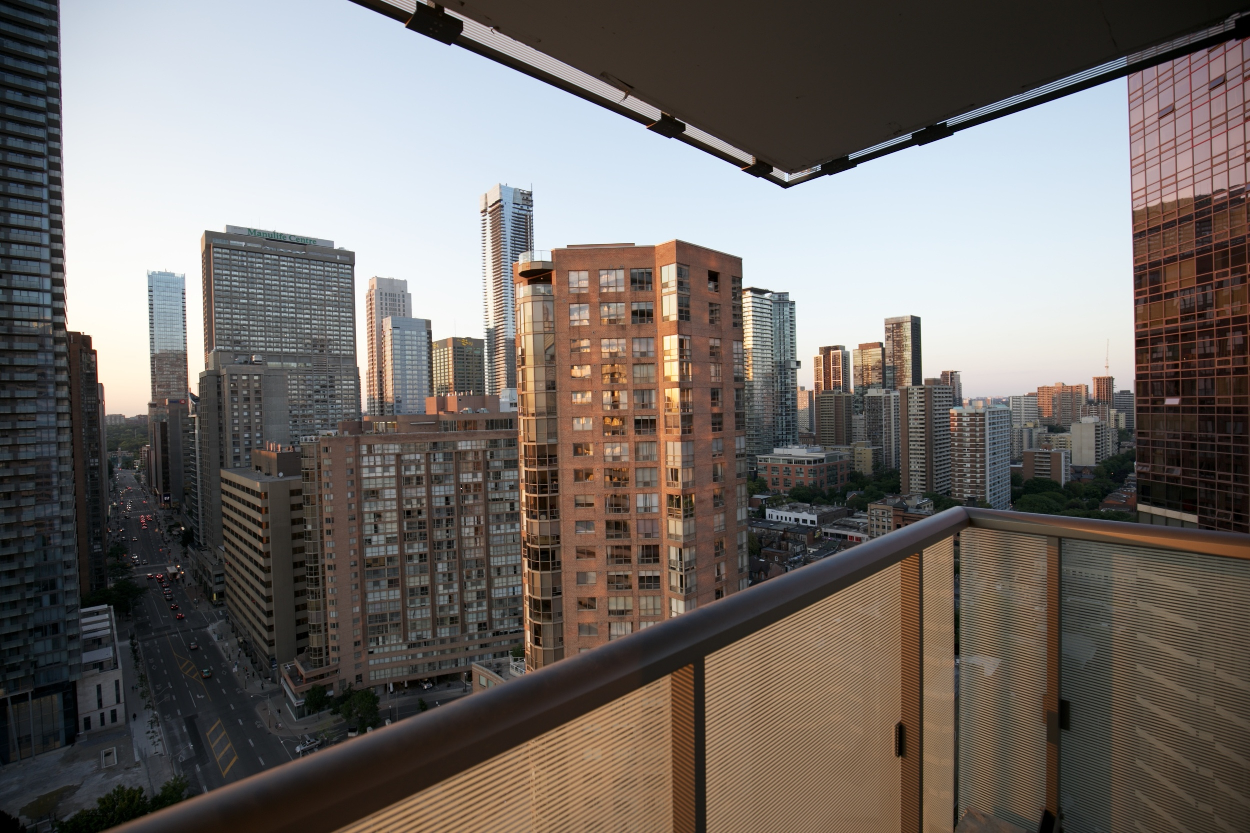 View from my balcony onto the high rise buildings.