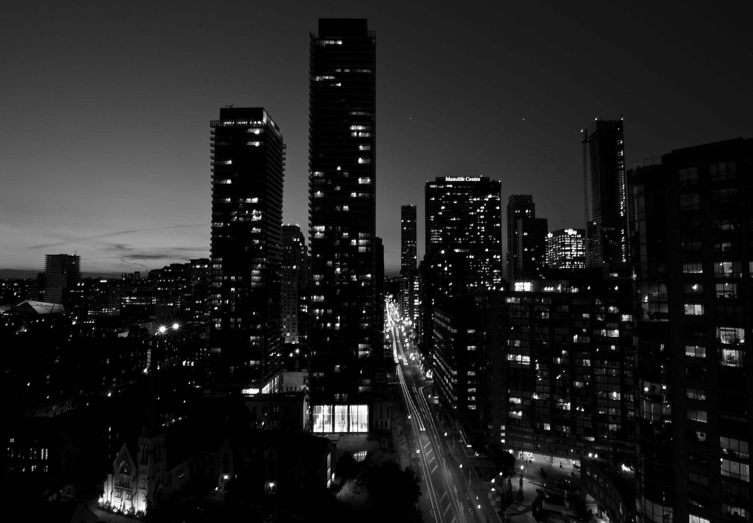 Toronto city scape at night.