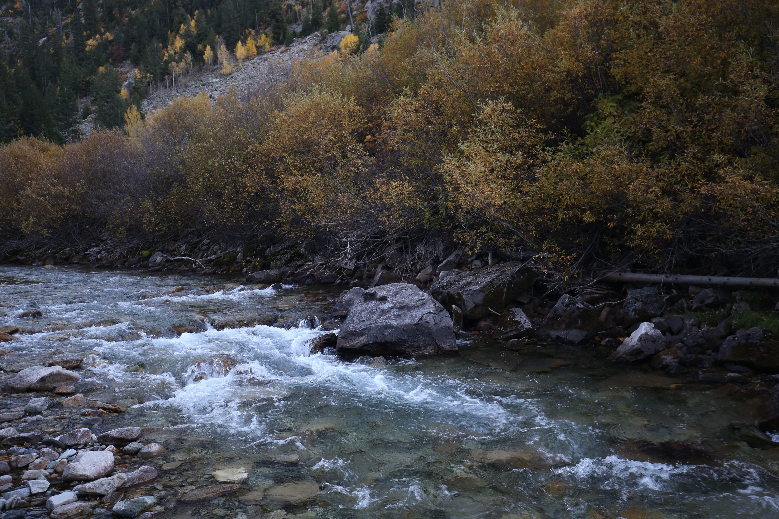 Snow melt turns to rivers in the Fall.