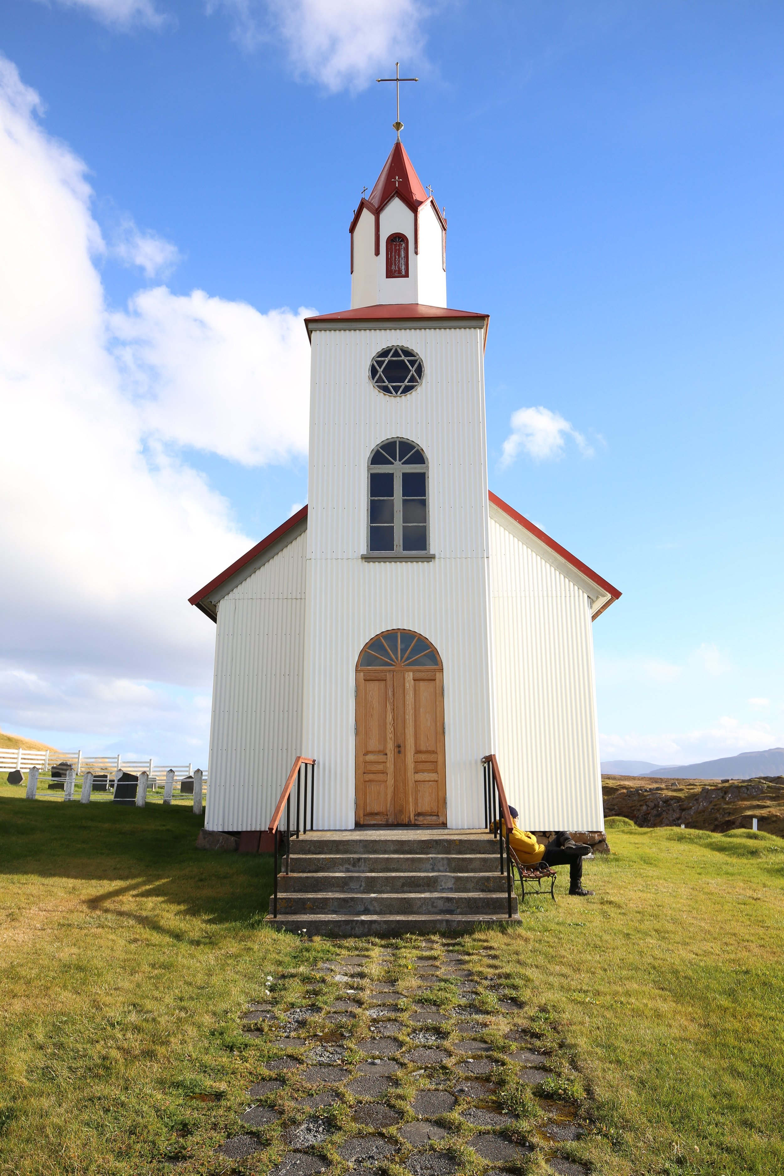 tiny red church iceland