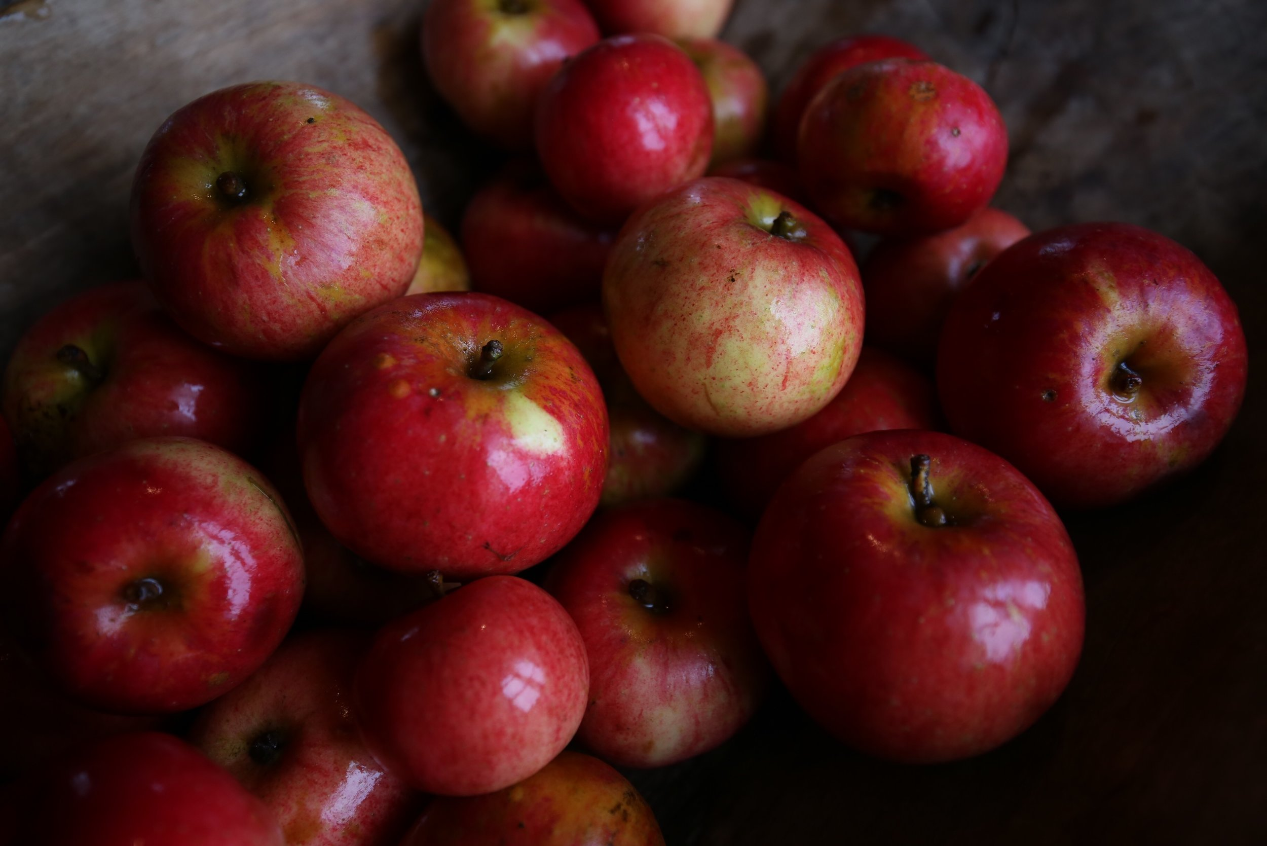 rosy organic apples