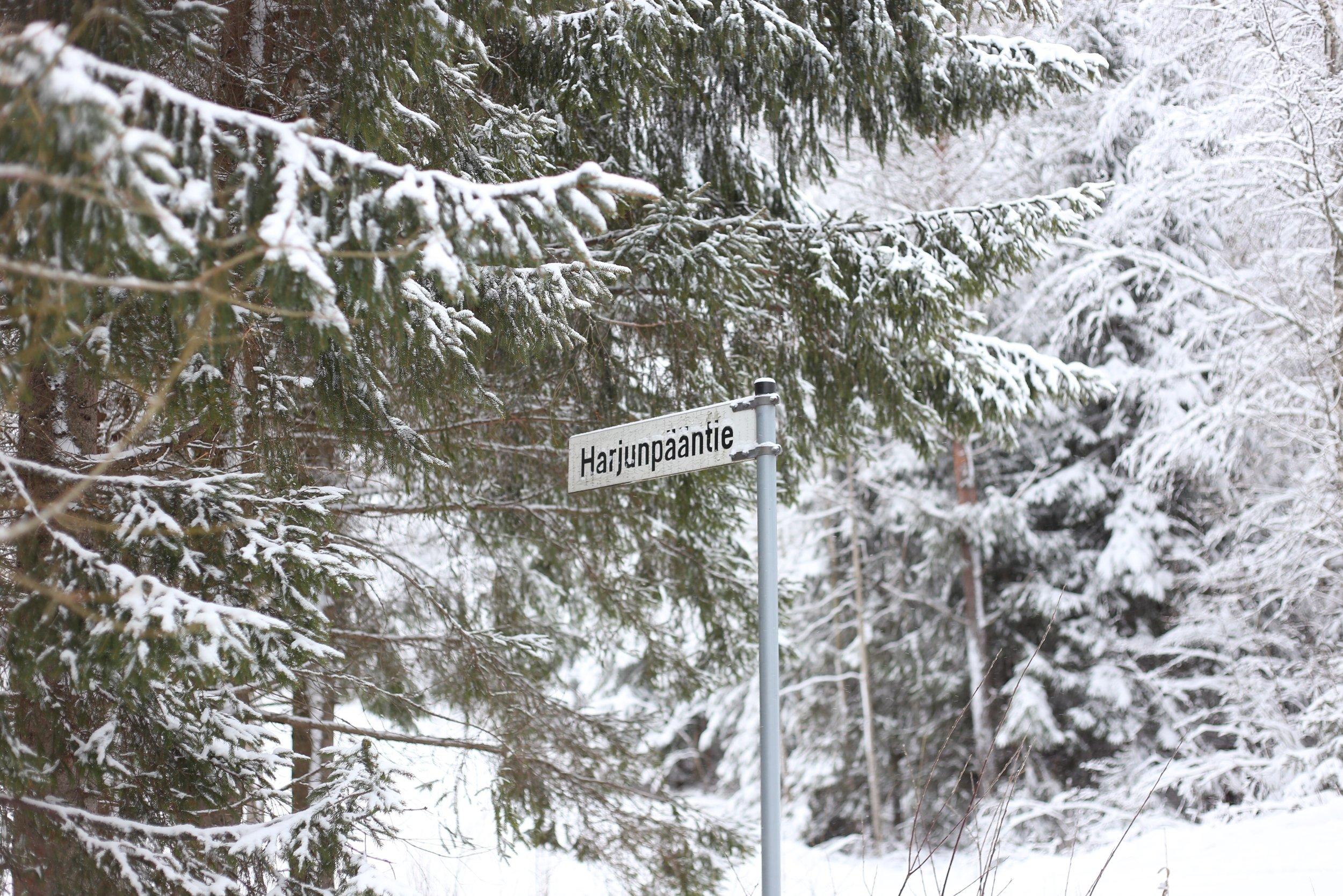 Finnish road sign