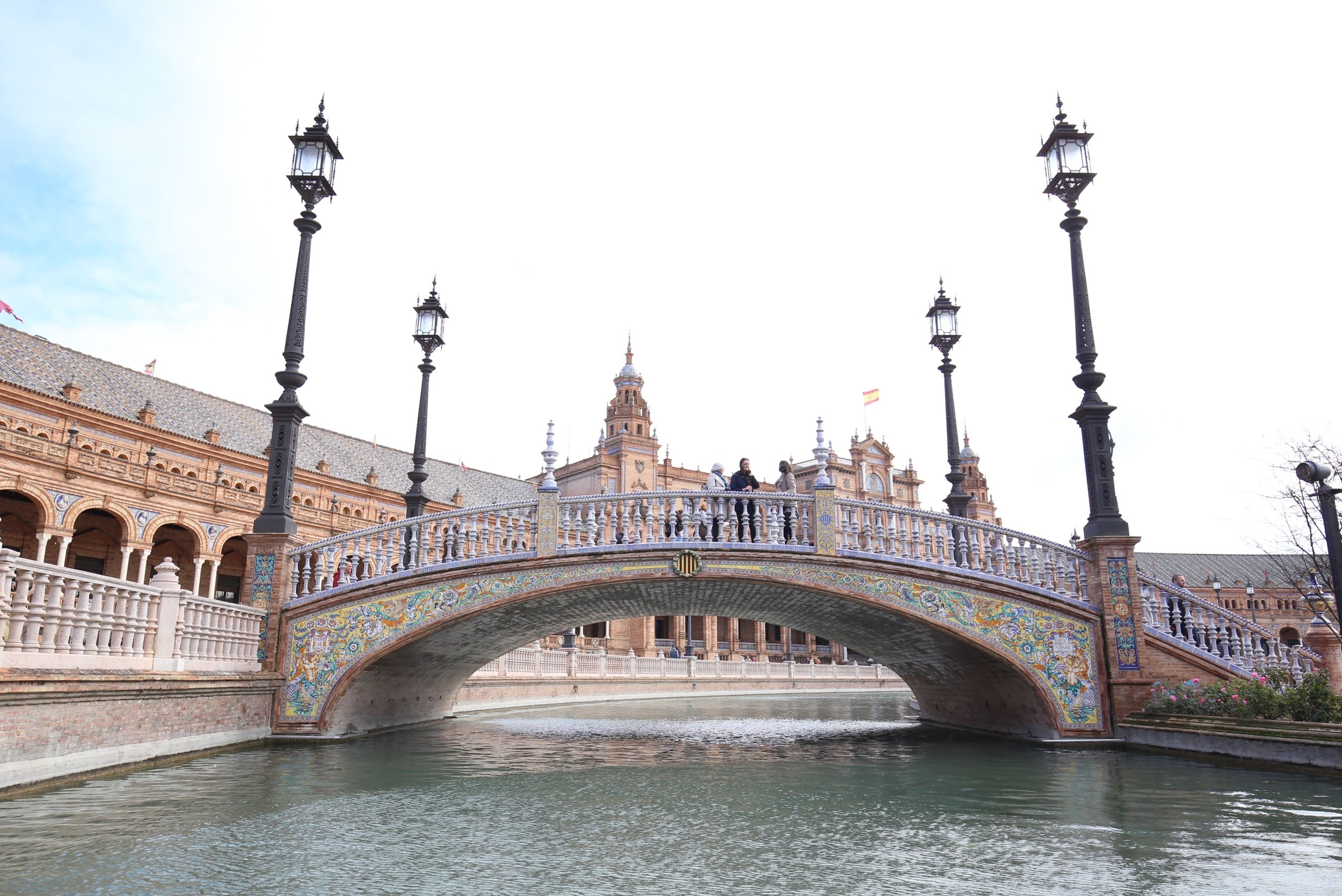 tiled bridge plaza de España