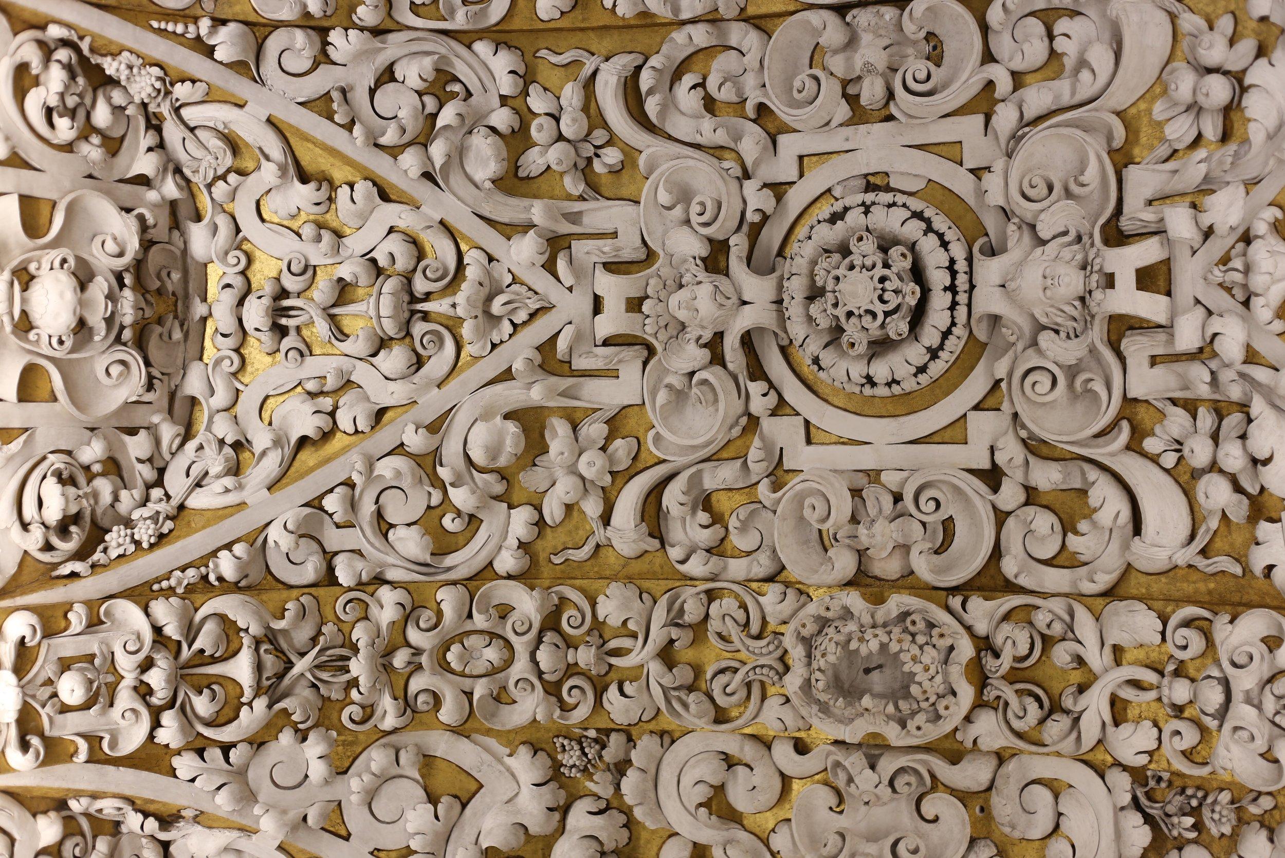Spanish church plaster ceiling