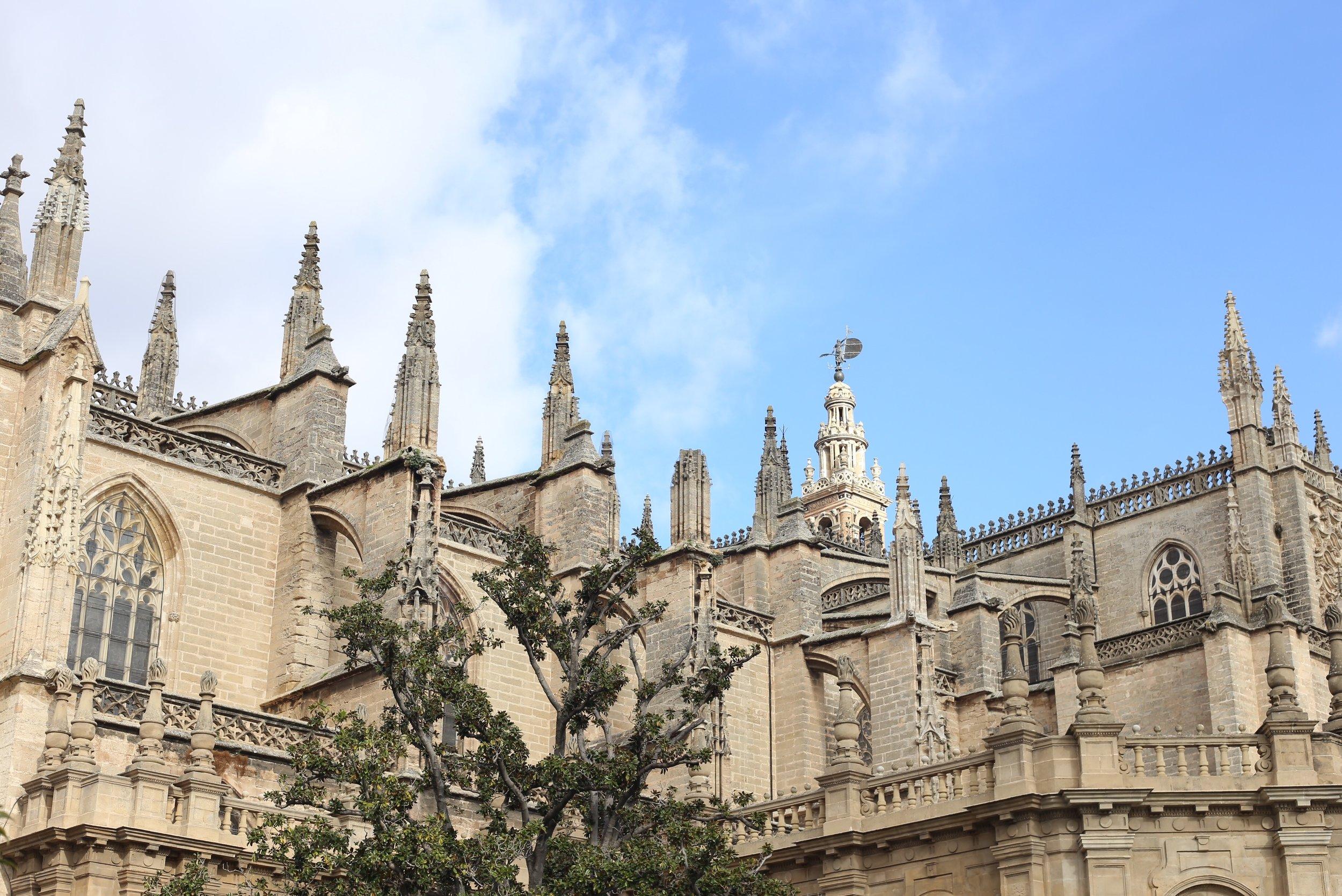 gothic cathedral spires sevilla