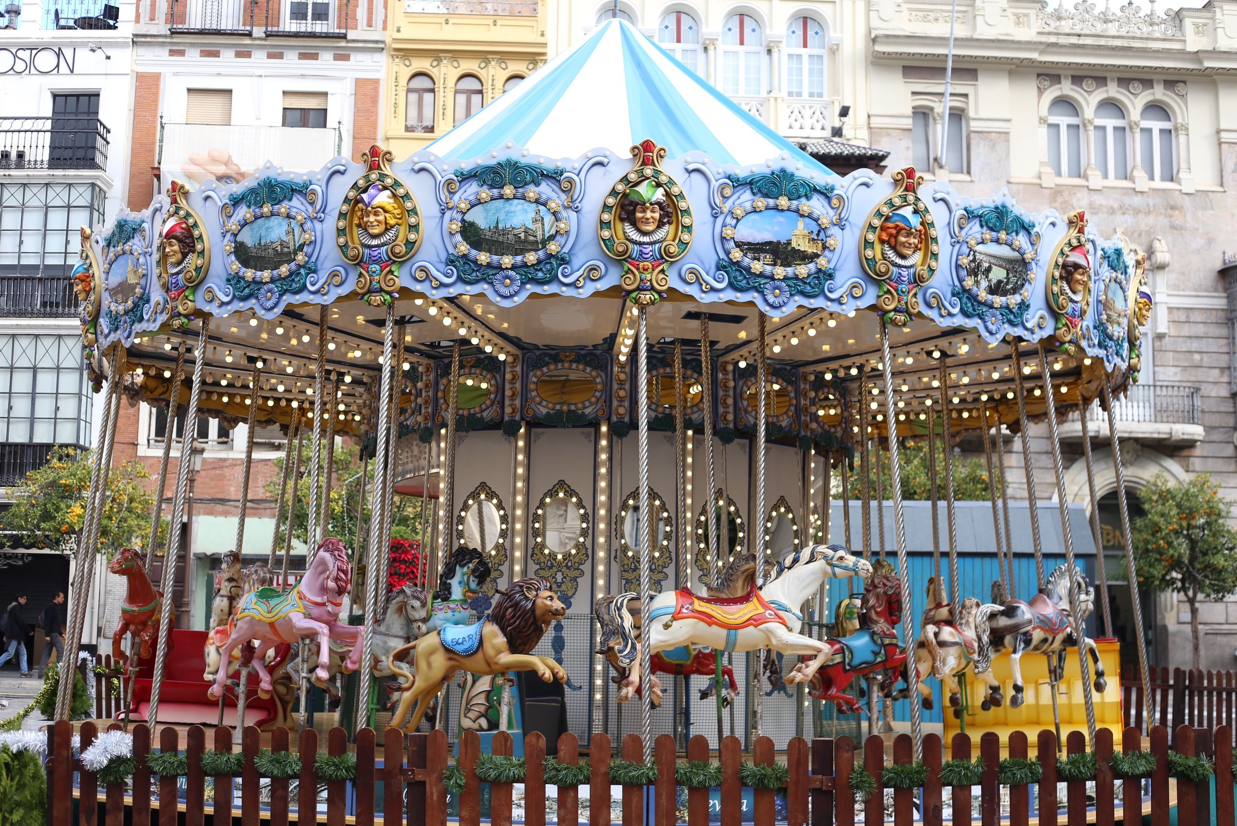 blue carrousel