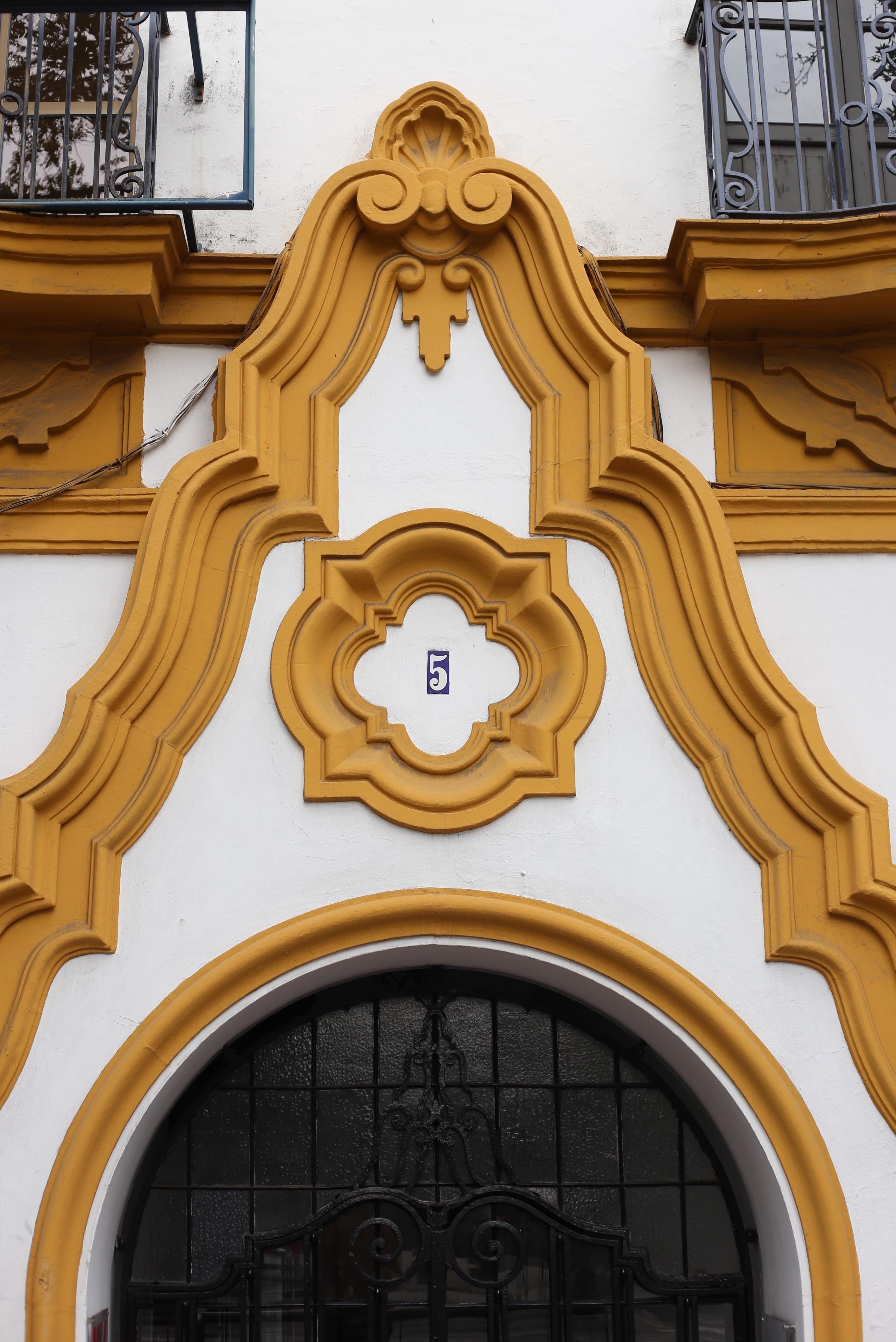 yellow stucco