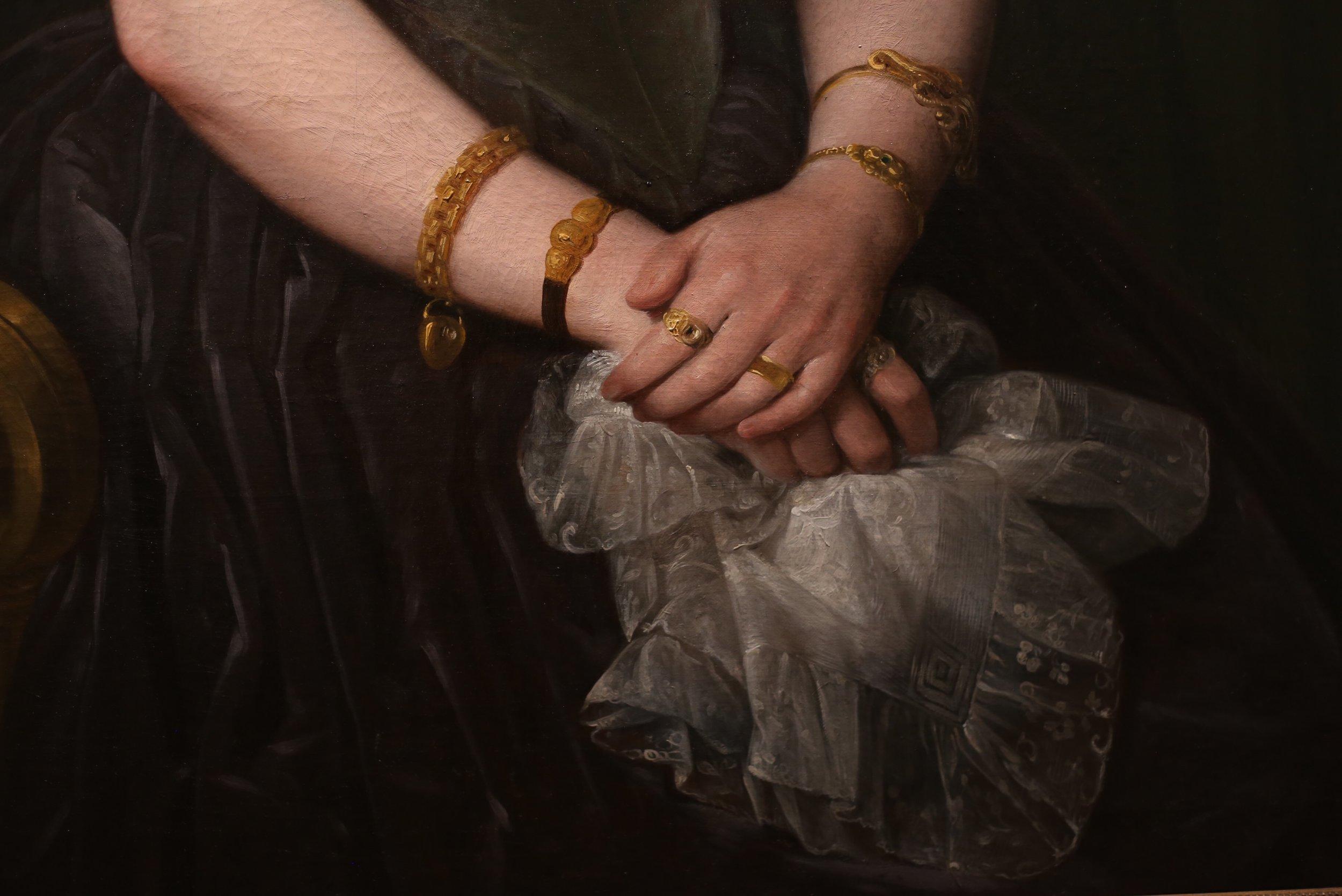 hands painted by Antonio maria esquival