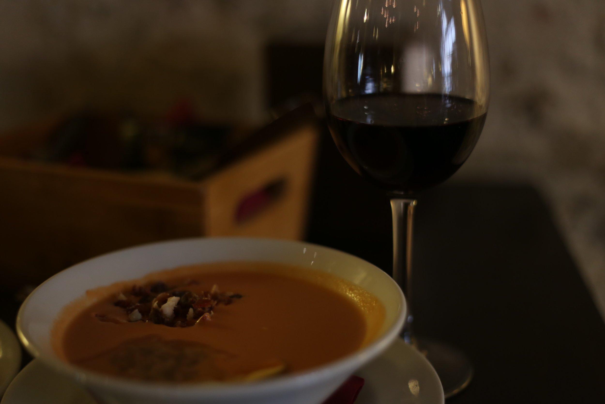 salmorejo and wine sevilla