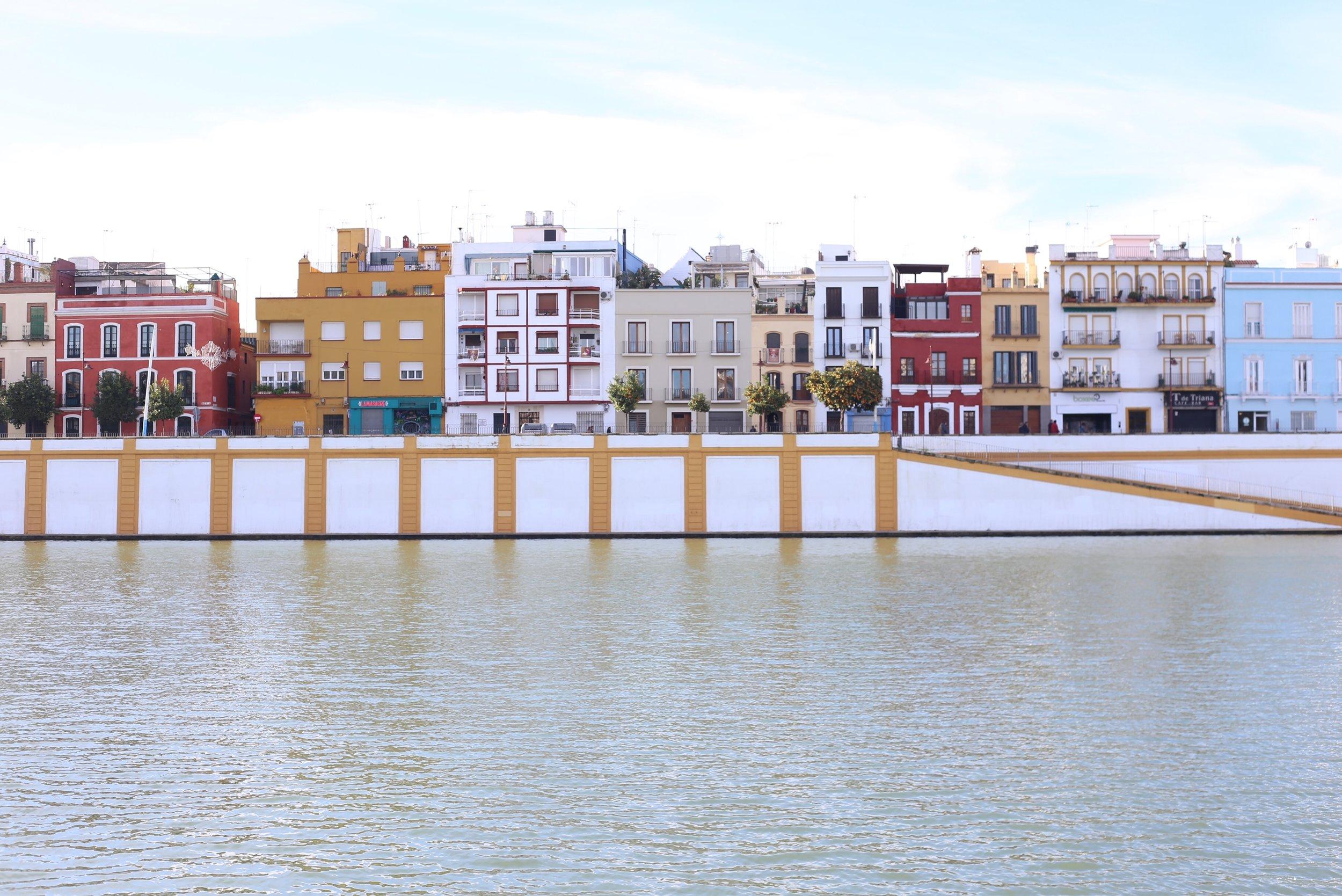 triana colorful waterfront sevilla