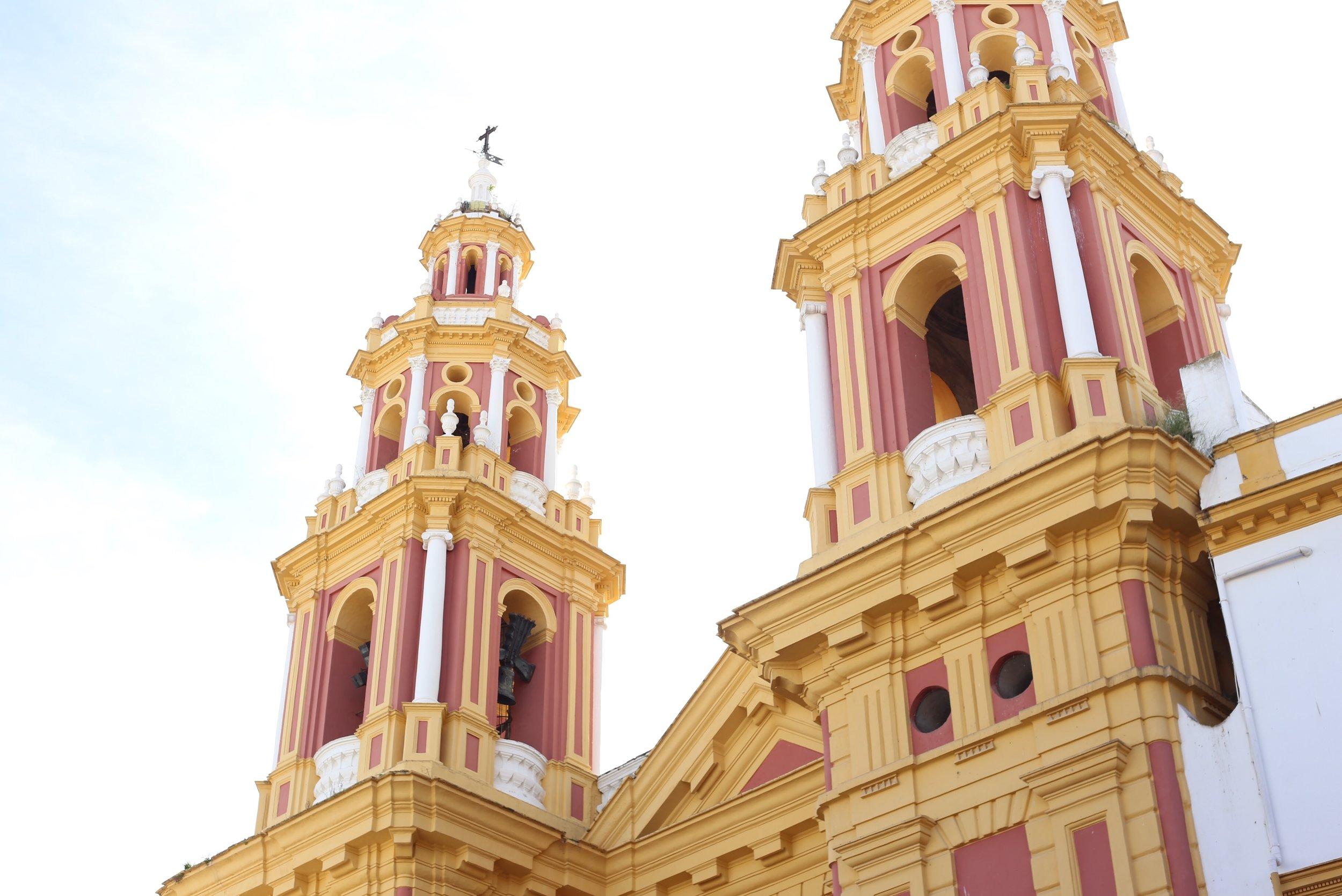 colorful church sevilla
