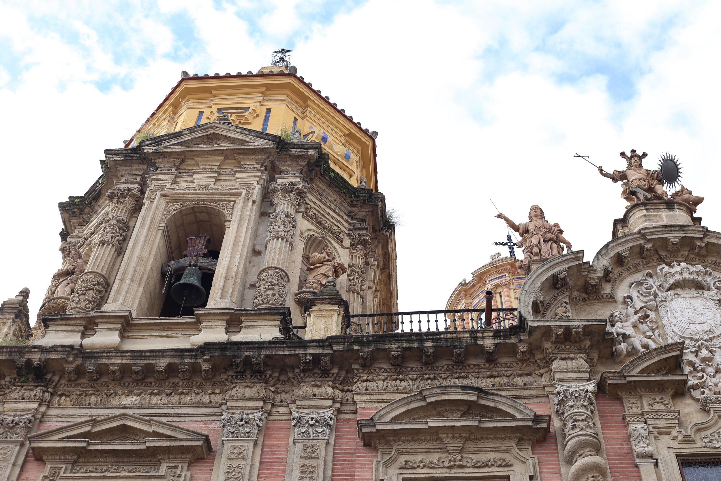 elaborate church facade