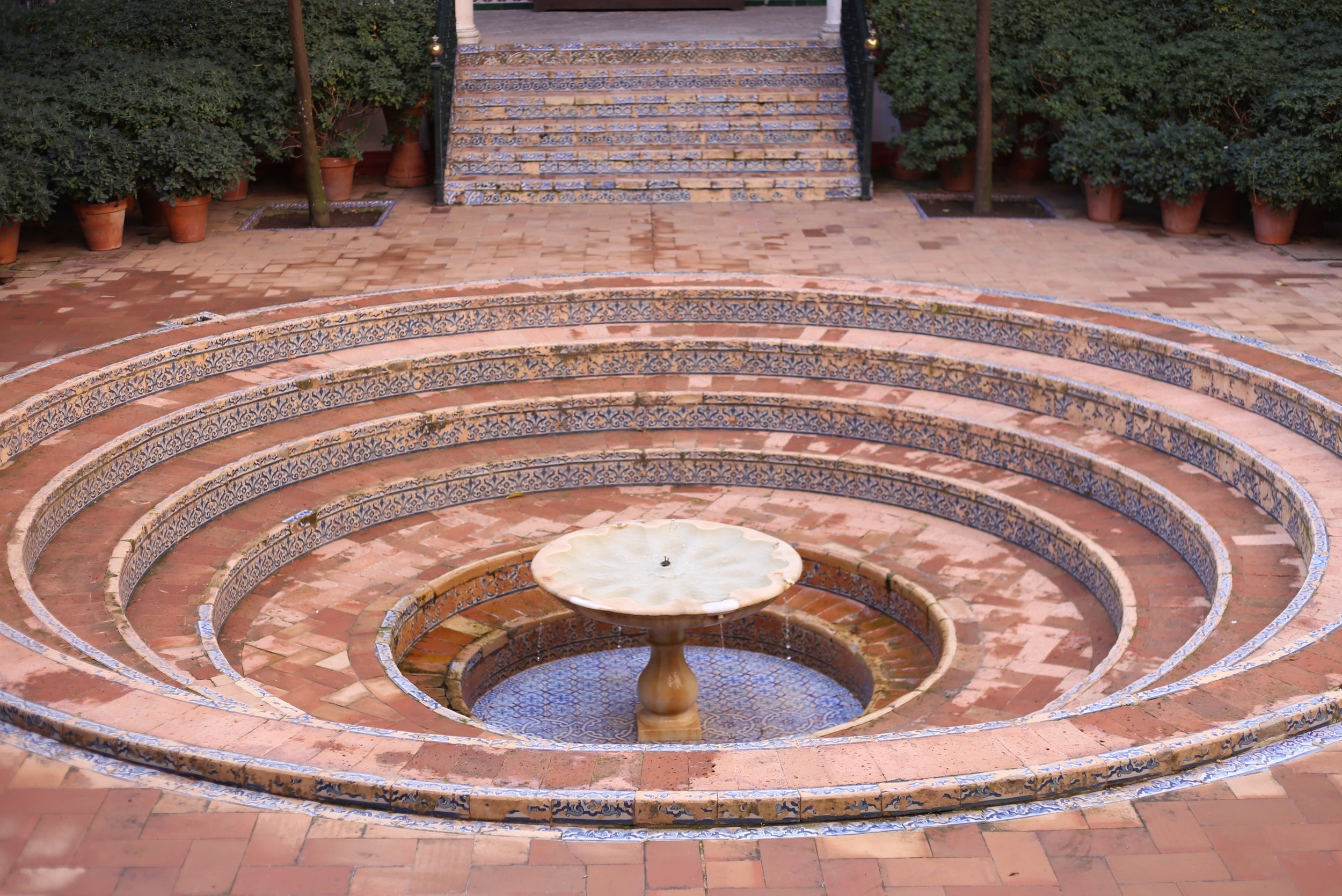 pink stepped fountain