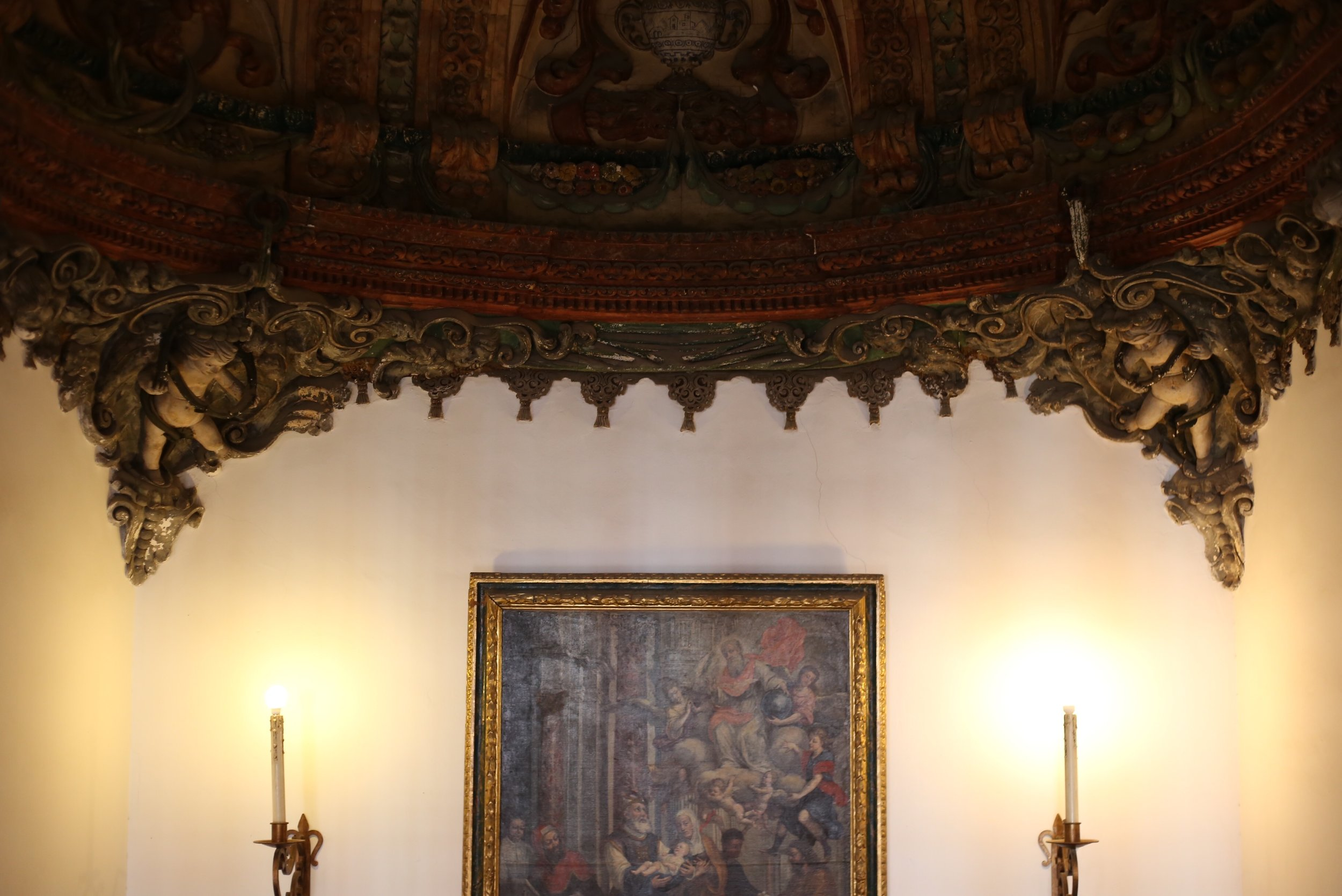 carved Spanish ceiling