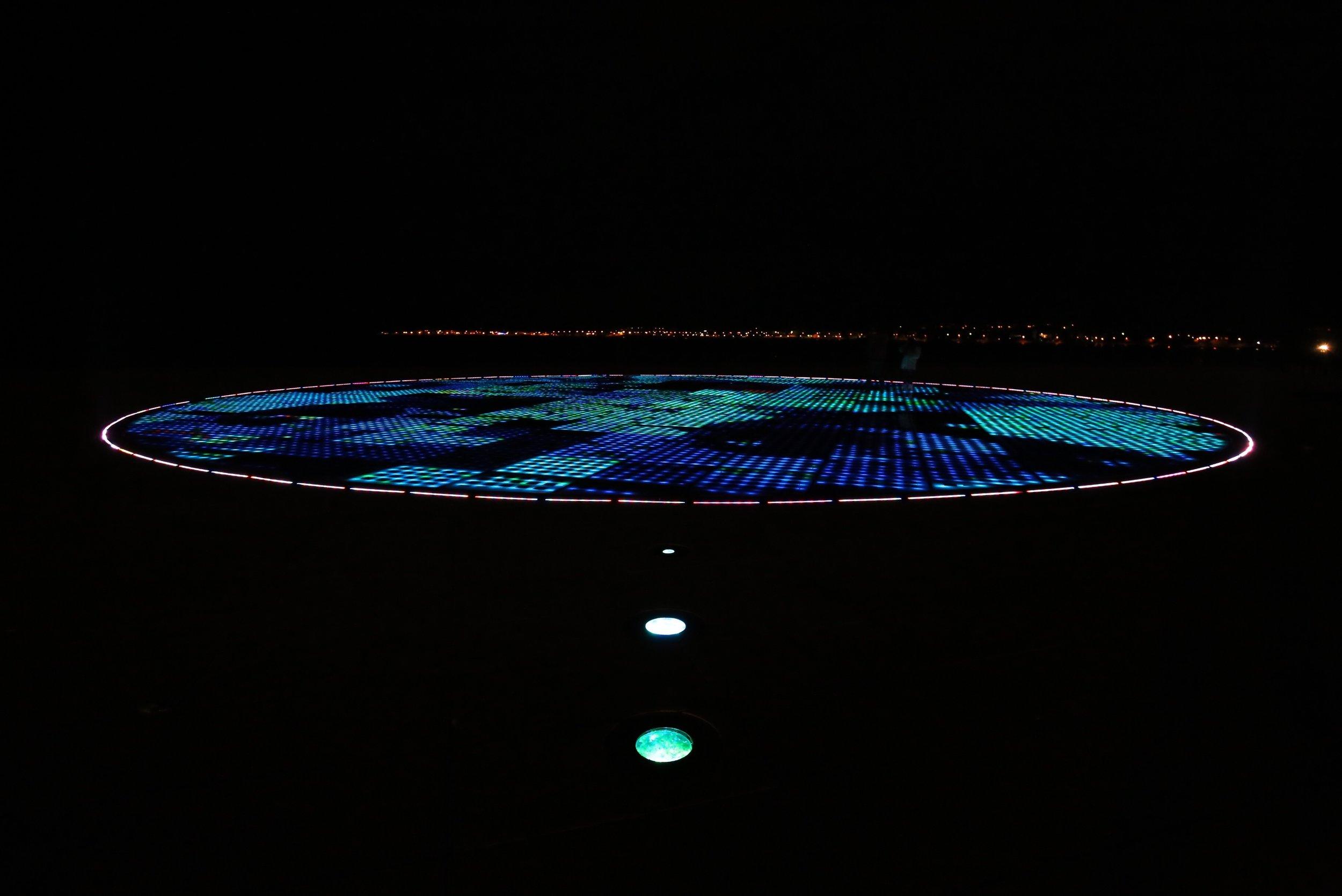 The Sun Salutations light installation at Zadar, Croatia.