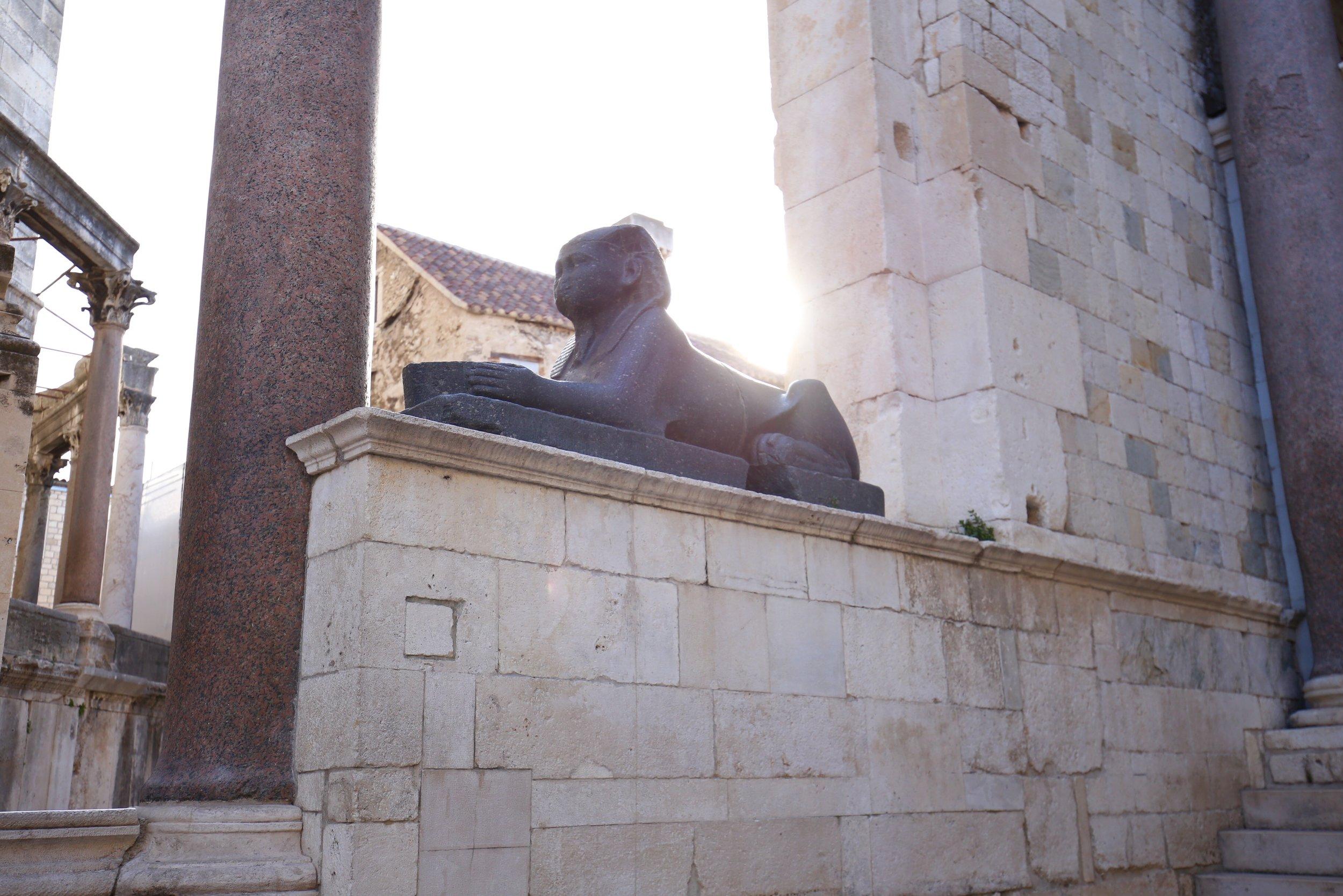 Stone sphinx of Split, Croatia.