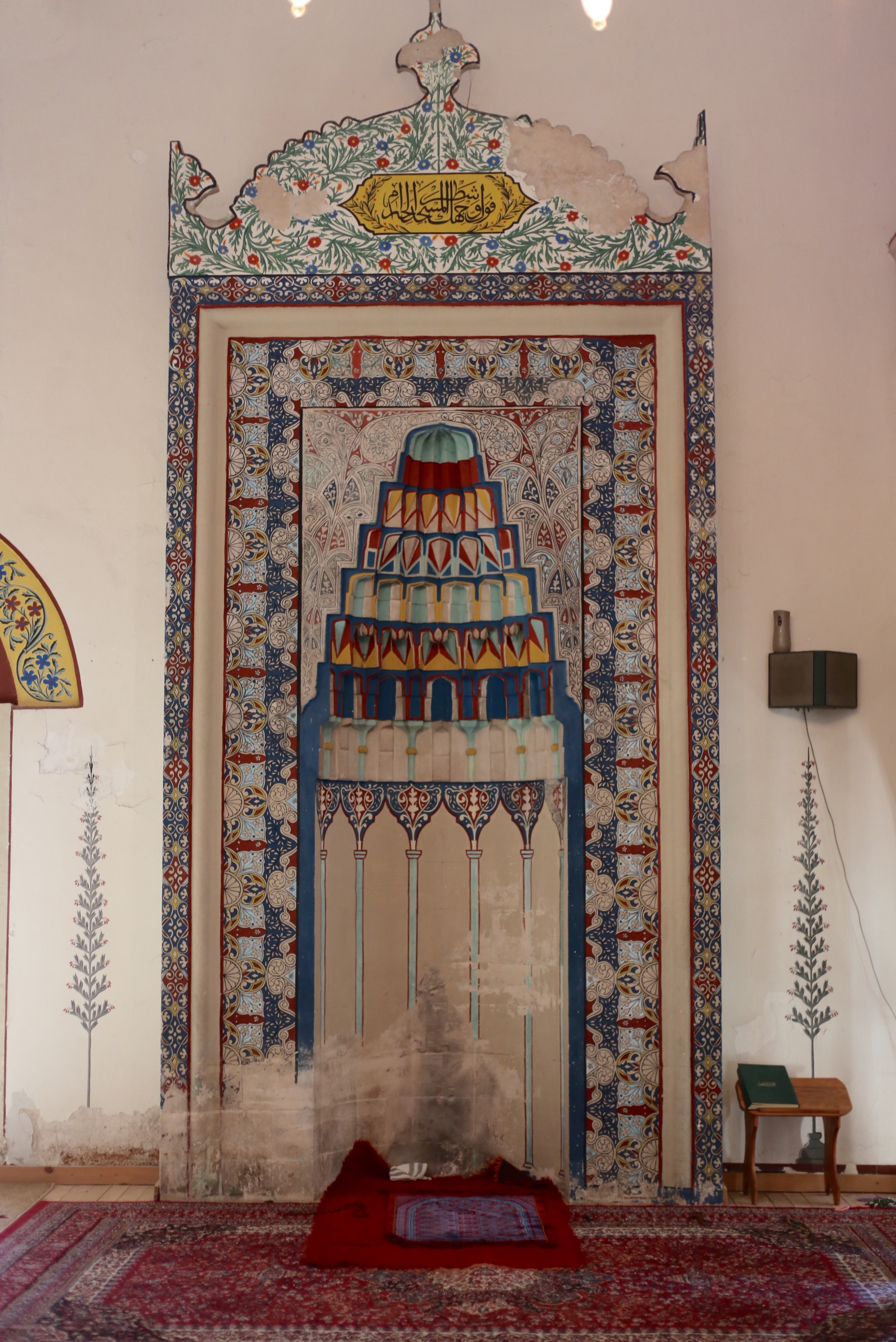 Beautiful paintings inside the Koski Mehmed Pasha mosque of Mostar.