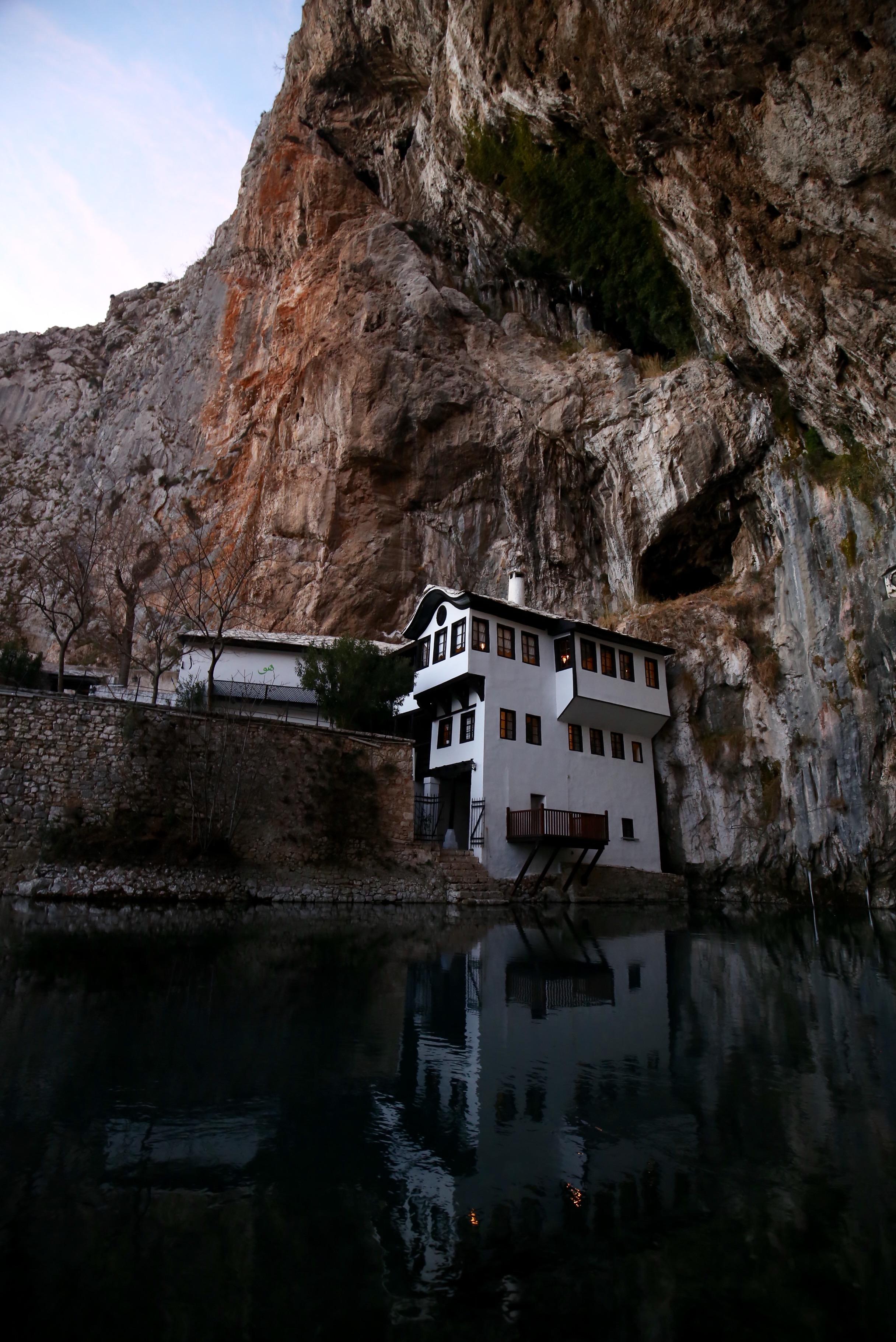 Blagaj Tejika - a sacred spring in Bosnia and Hercegovina.