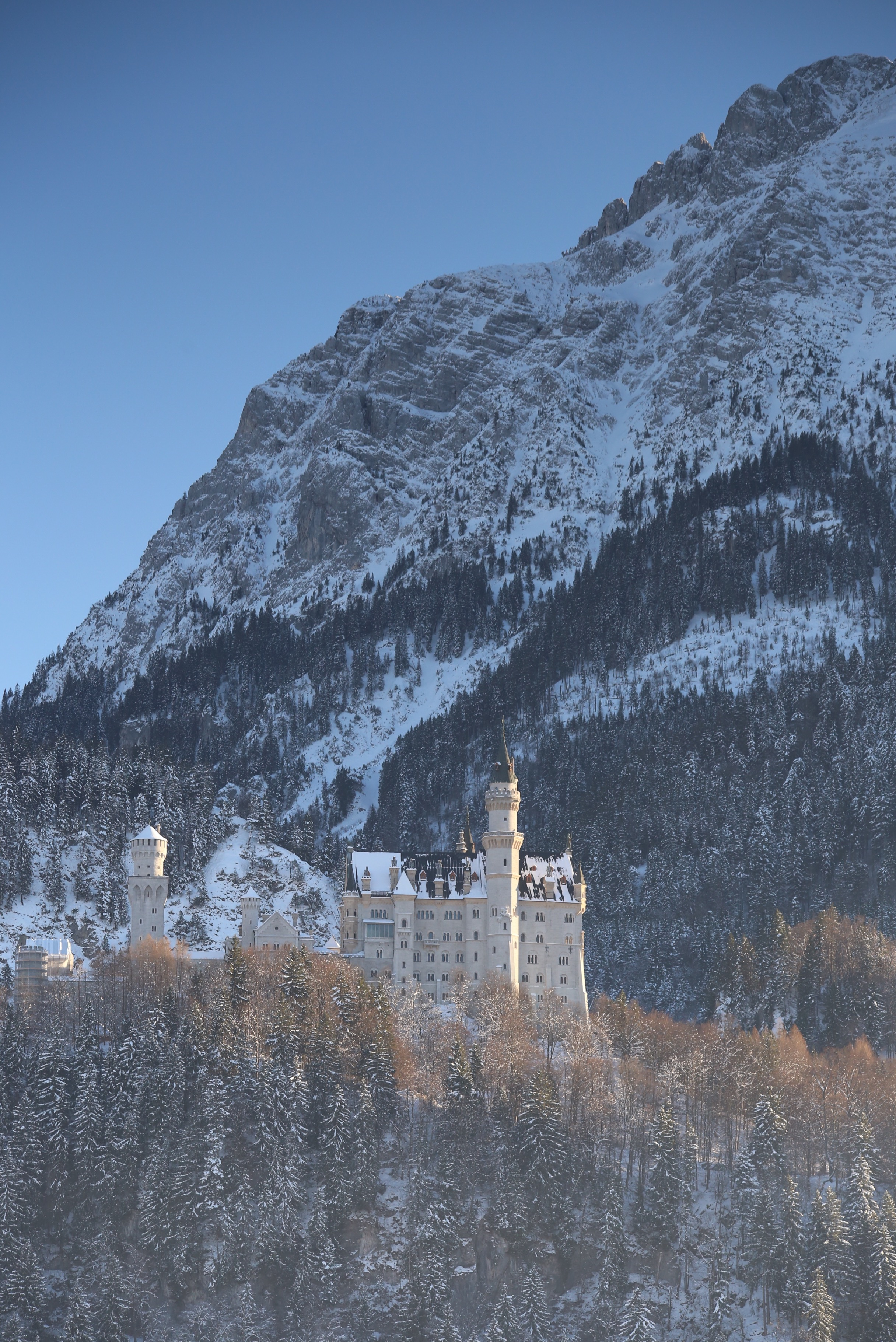 The real cinderella castle in winter, Germany.